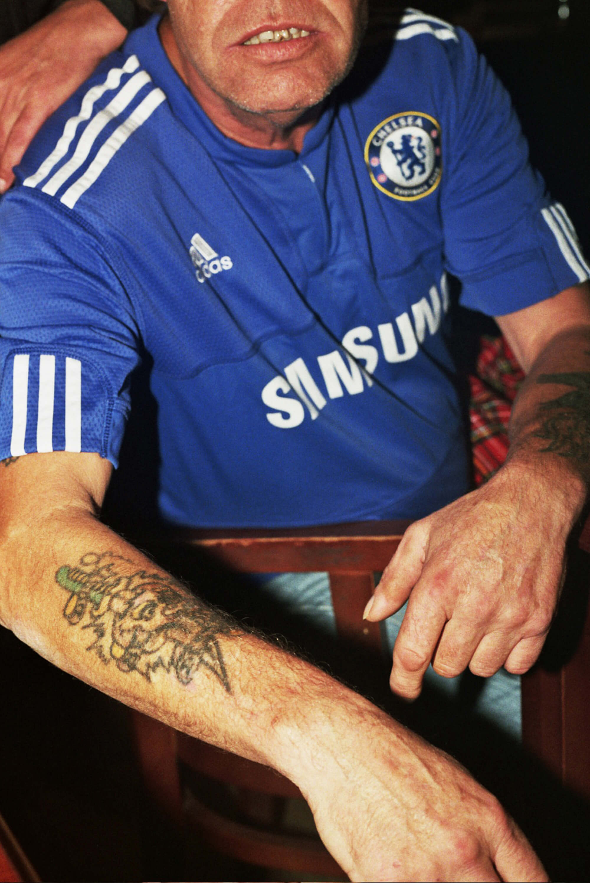 Daniel Harvey Gonzalez Chelsea fan with tattoos photography the south west collective