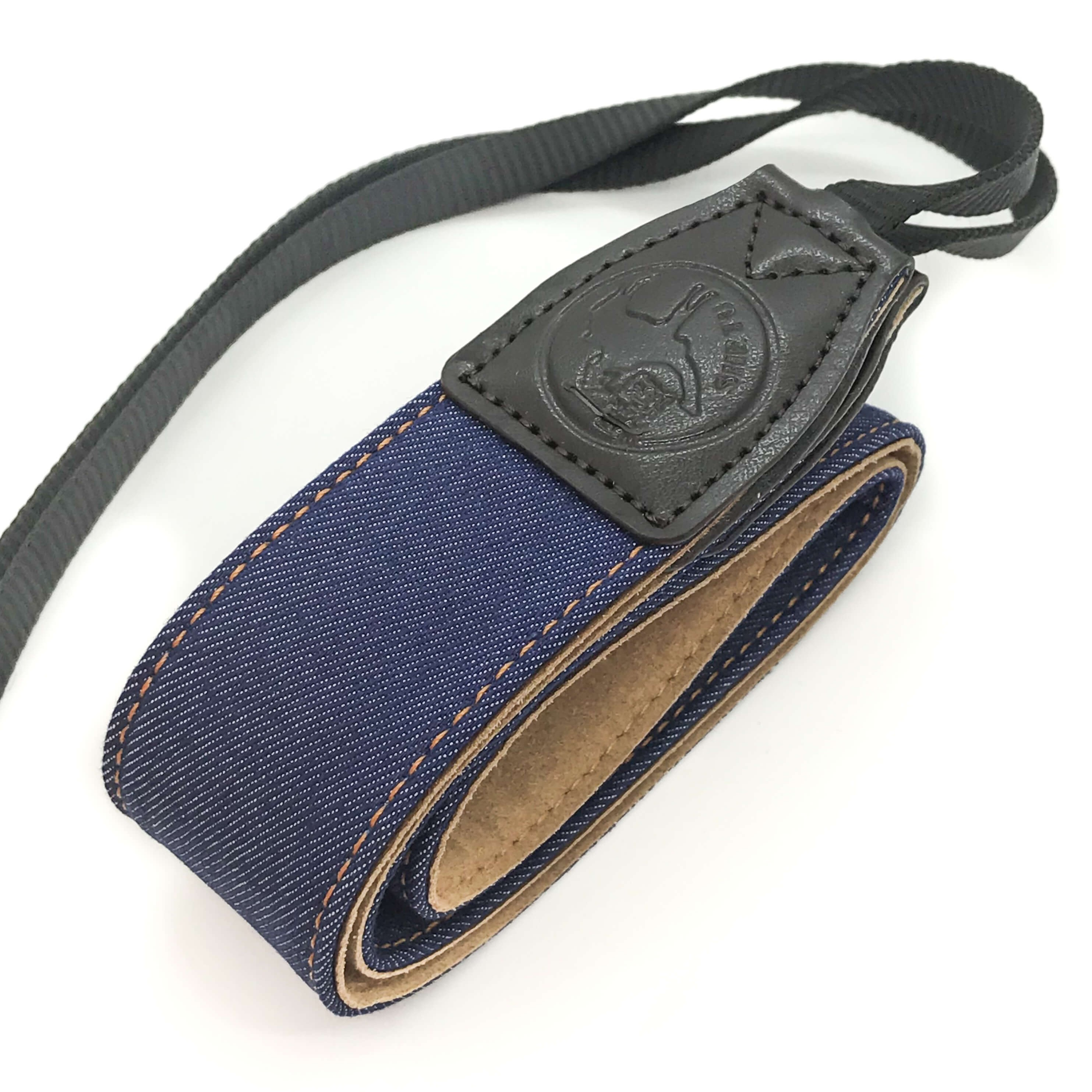 Blue Fabric denim camera strap on white background for canon Nikon Sony fujifilm