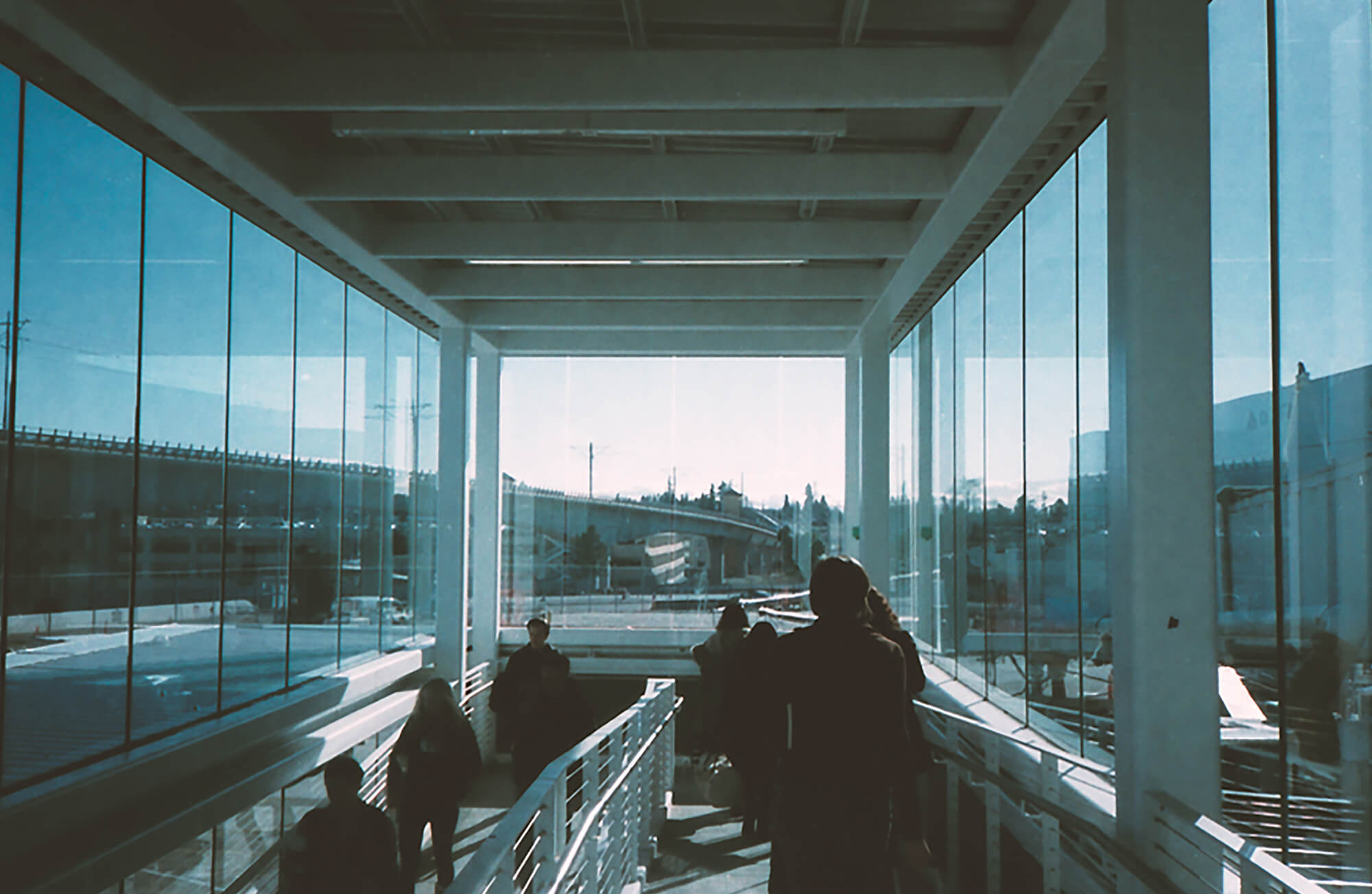 Seattle airport boarding United States with glass windows