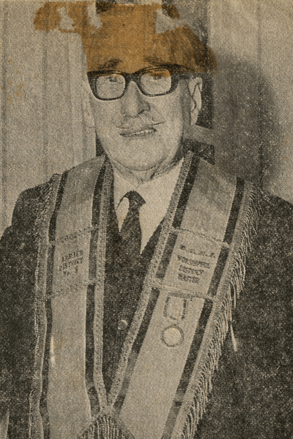 old man wearing glasses on vintage photograph