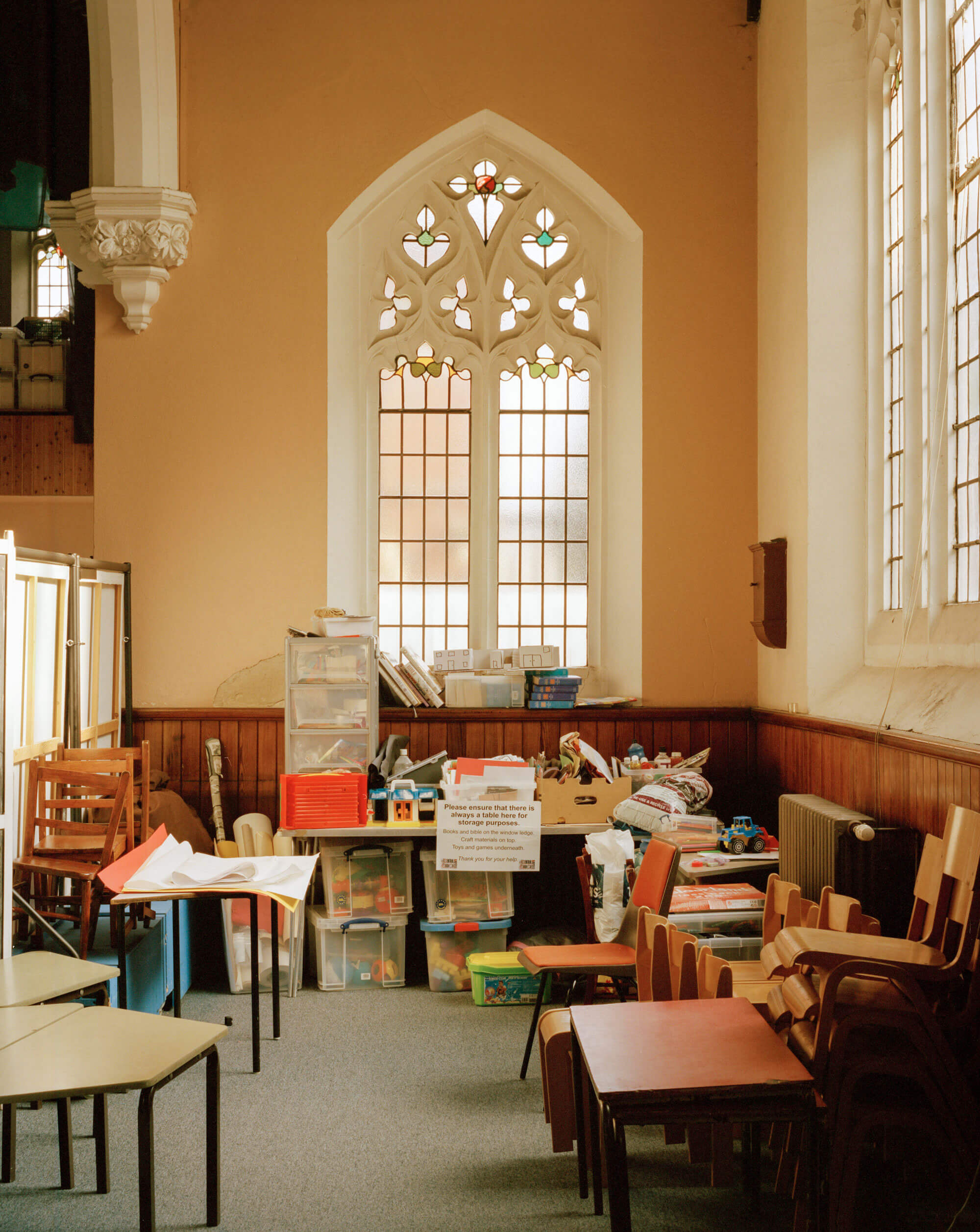 Kids play area in the Catholic Church