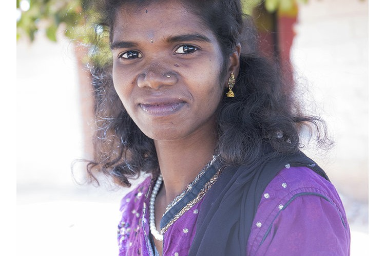 Charlotte Colenutt Soul Mate young indian girl poses for her portrait