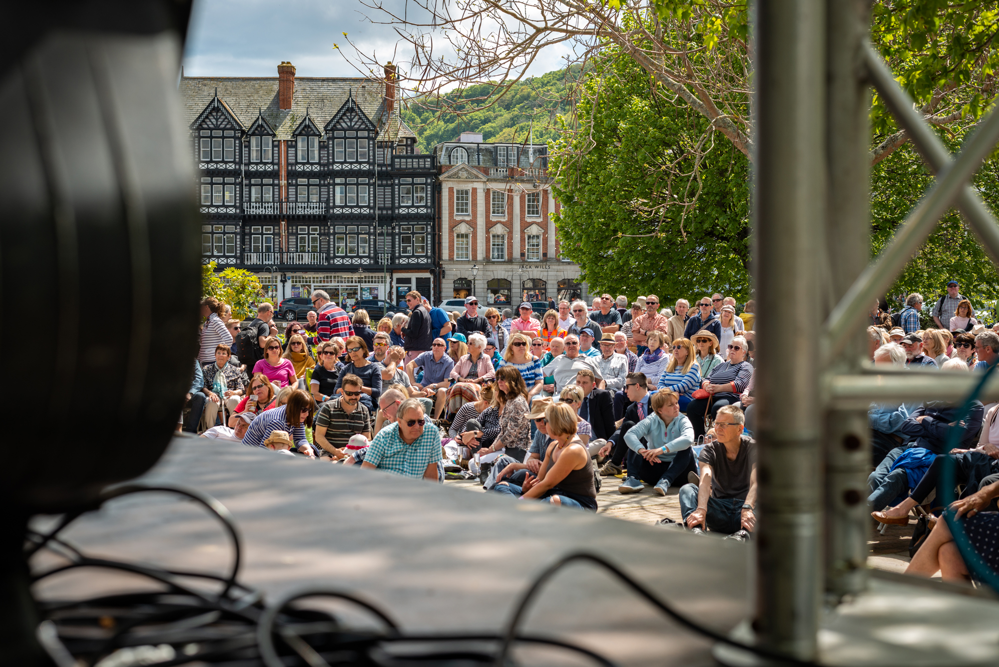 Crowd at Dartmouth music festival on sunny day 2019