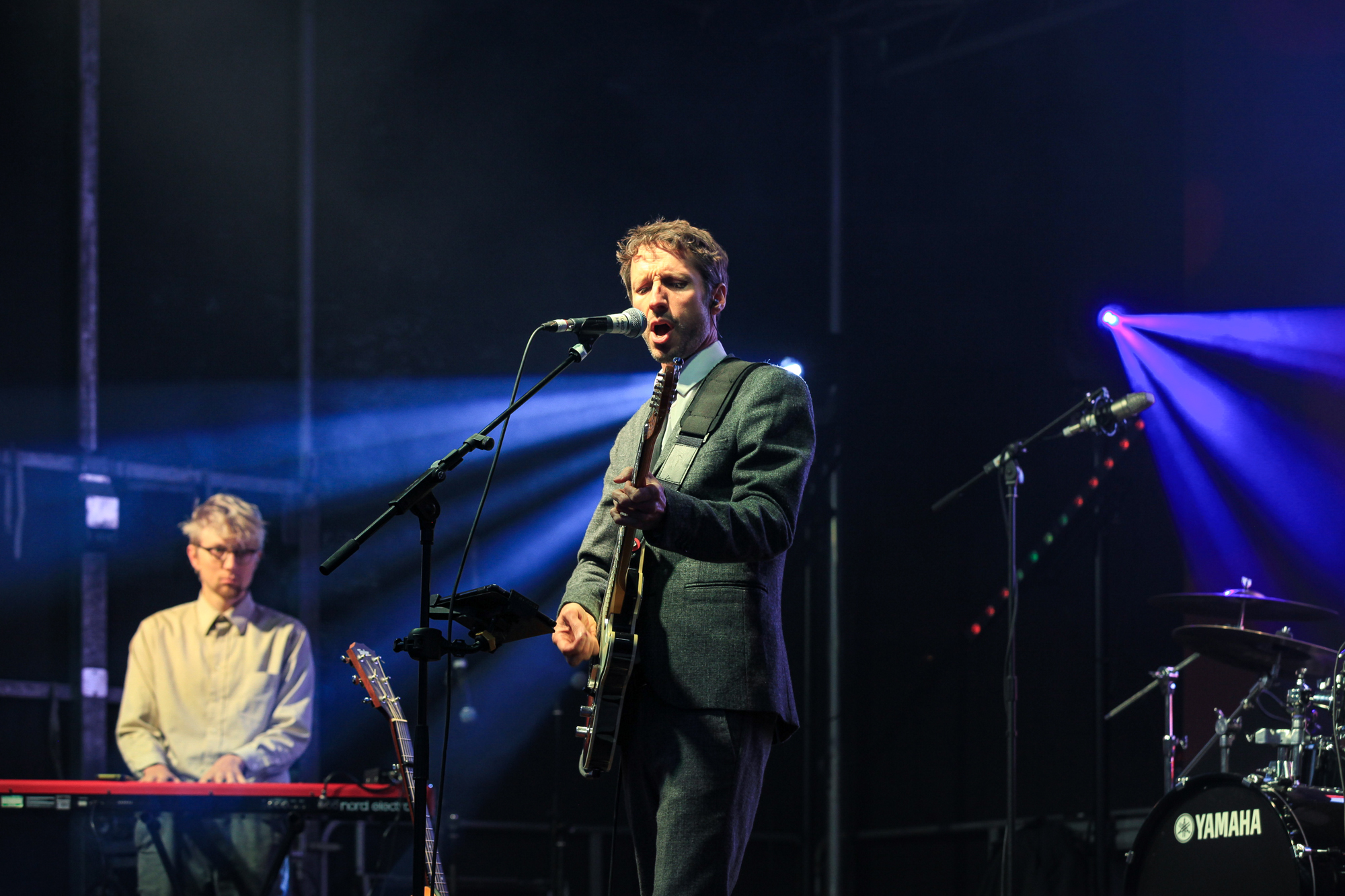 Undercover hippy on stage at Dartmouth music festival 2019