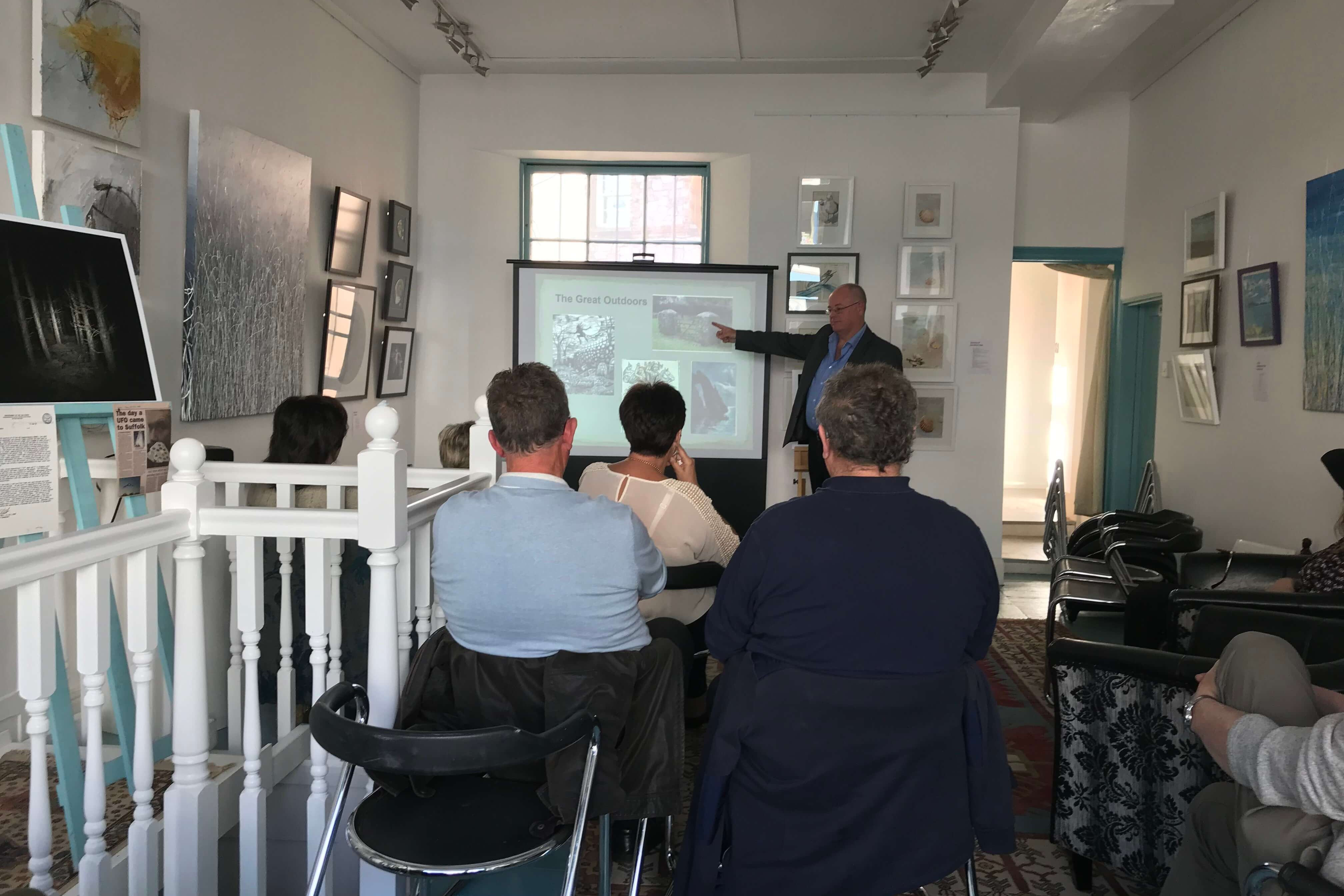 Kevin Dixon local history talk at the artisan gallery
