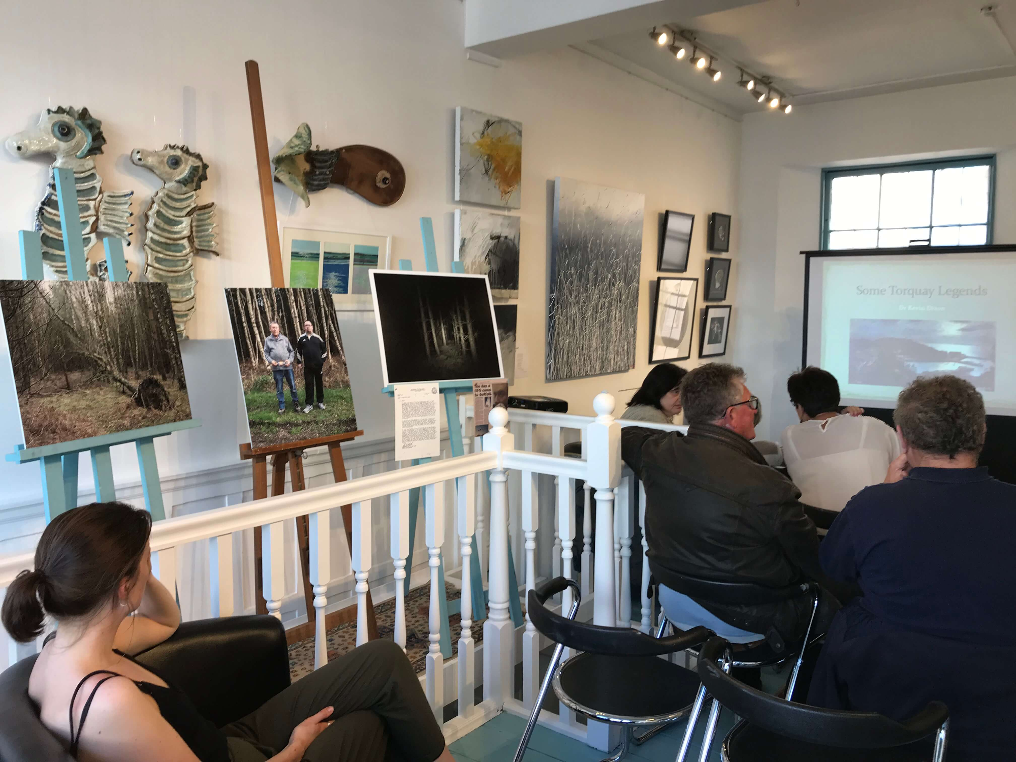 Kevin Dixon local history talk at the artisan gallery