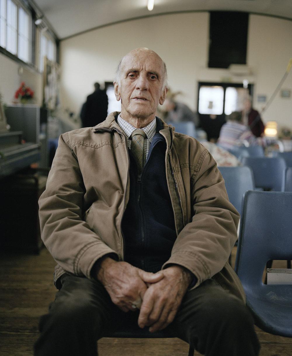 Sandra Mickiewicz Happy Club old man sat in village hall