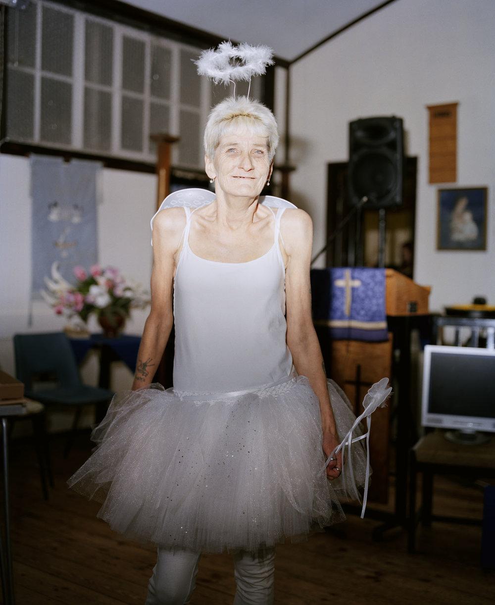 Sandra Mickiewicz Happy Club old lady dressed as a fairy