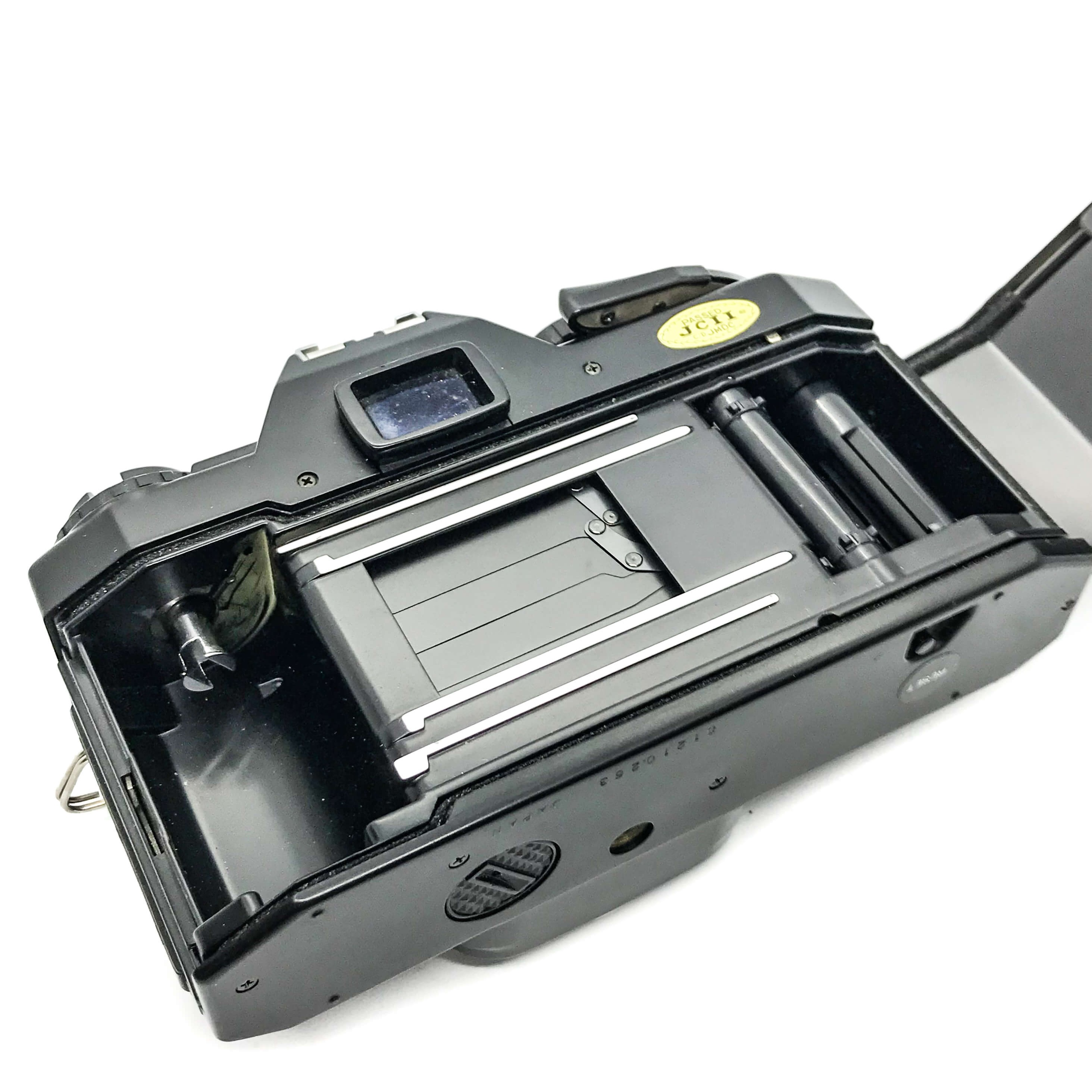Vivitar v635 film camera on white background vintage