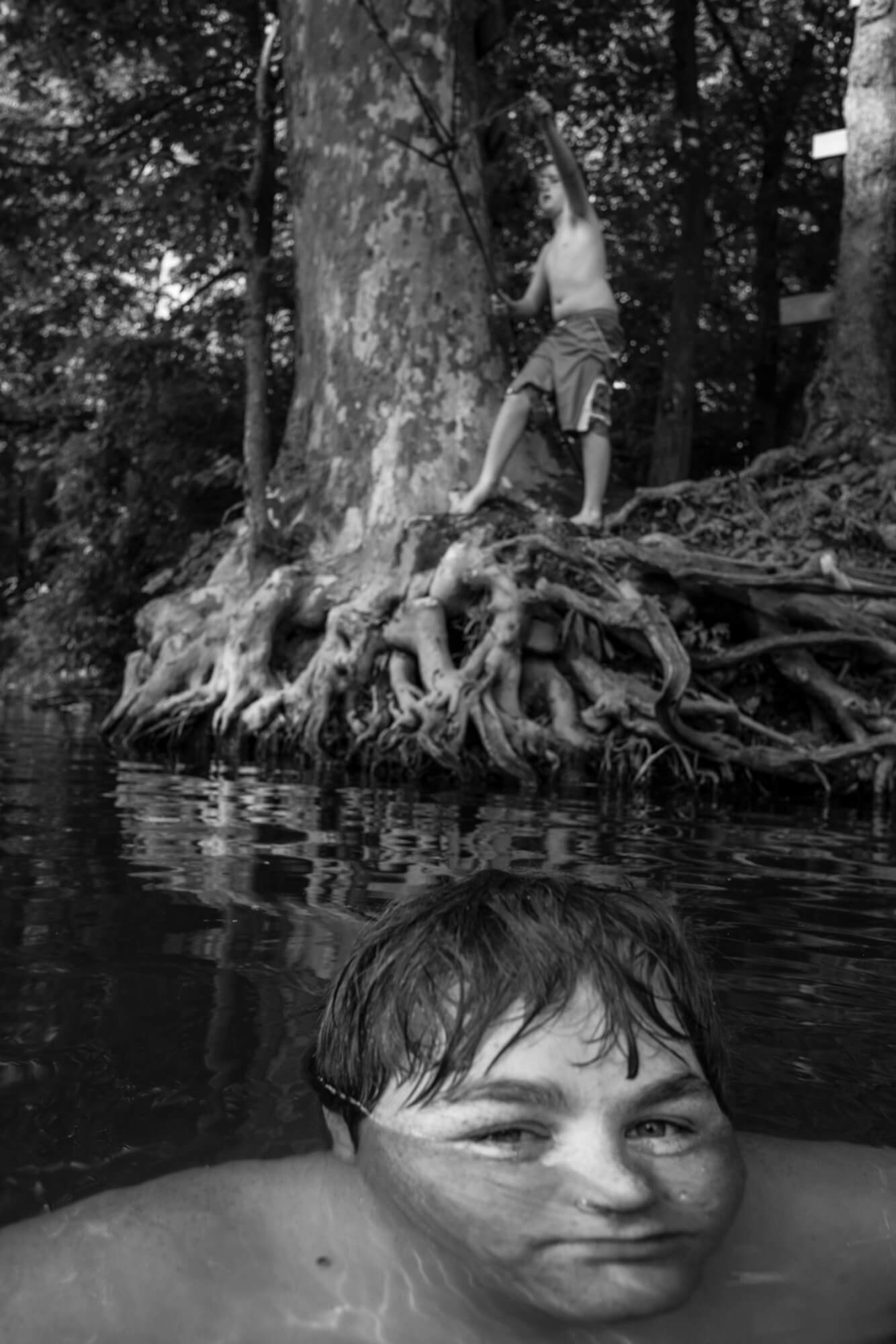 Caleb stein the south west collective of photography boy swimming under water