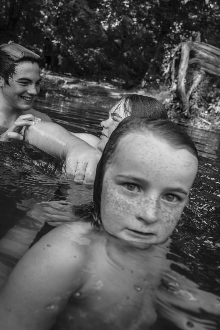 the south west collective Caleb stein three girls swimming in river