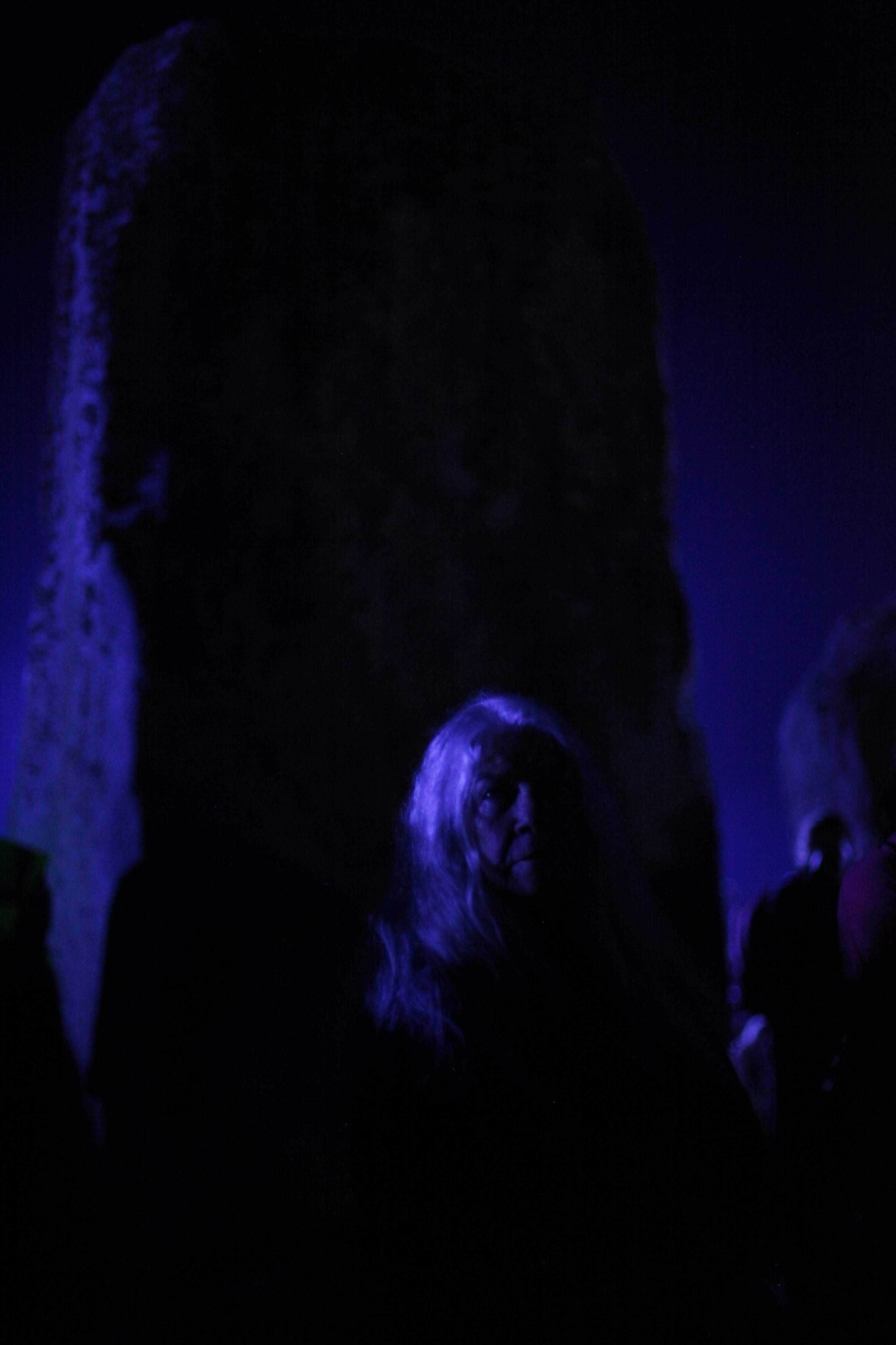 ana paganini stonehenge Summer and Winter Solstices the south west collective of photography women stood under blue light