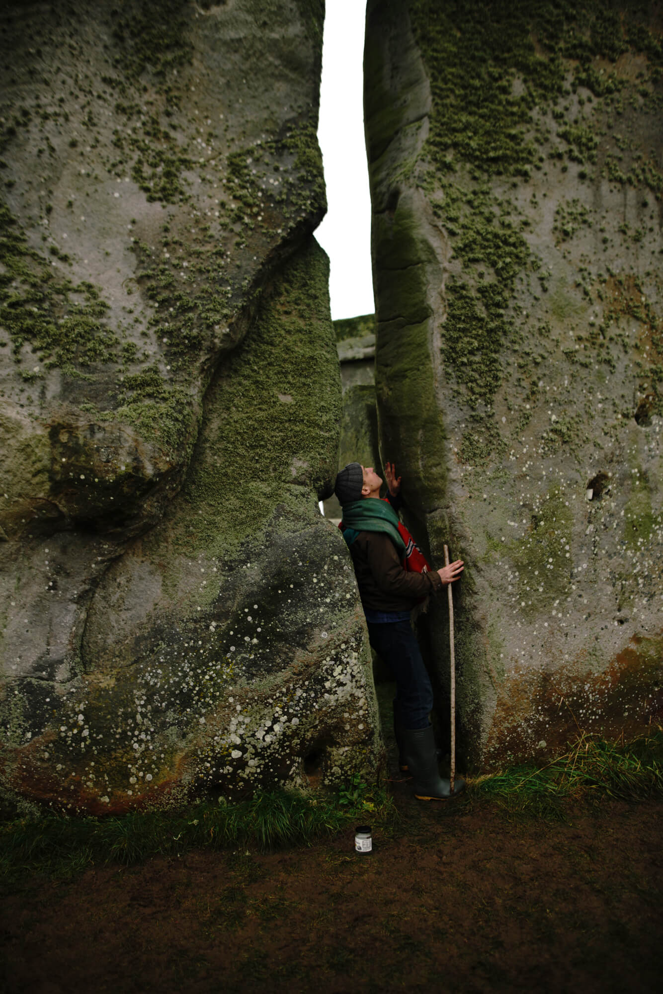 ana paganini stonehenge Summer and Winter Solstices the south west collective of photography man touching stonehenge