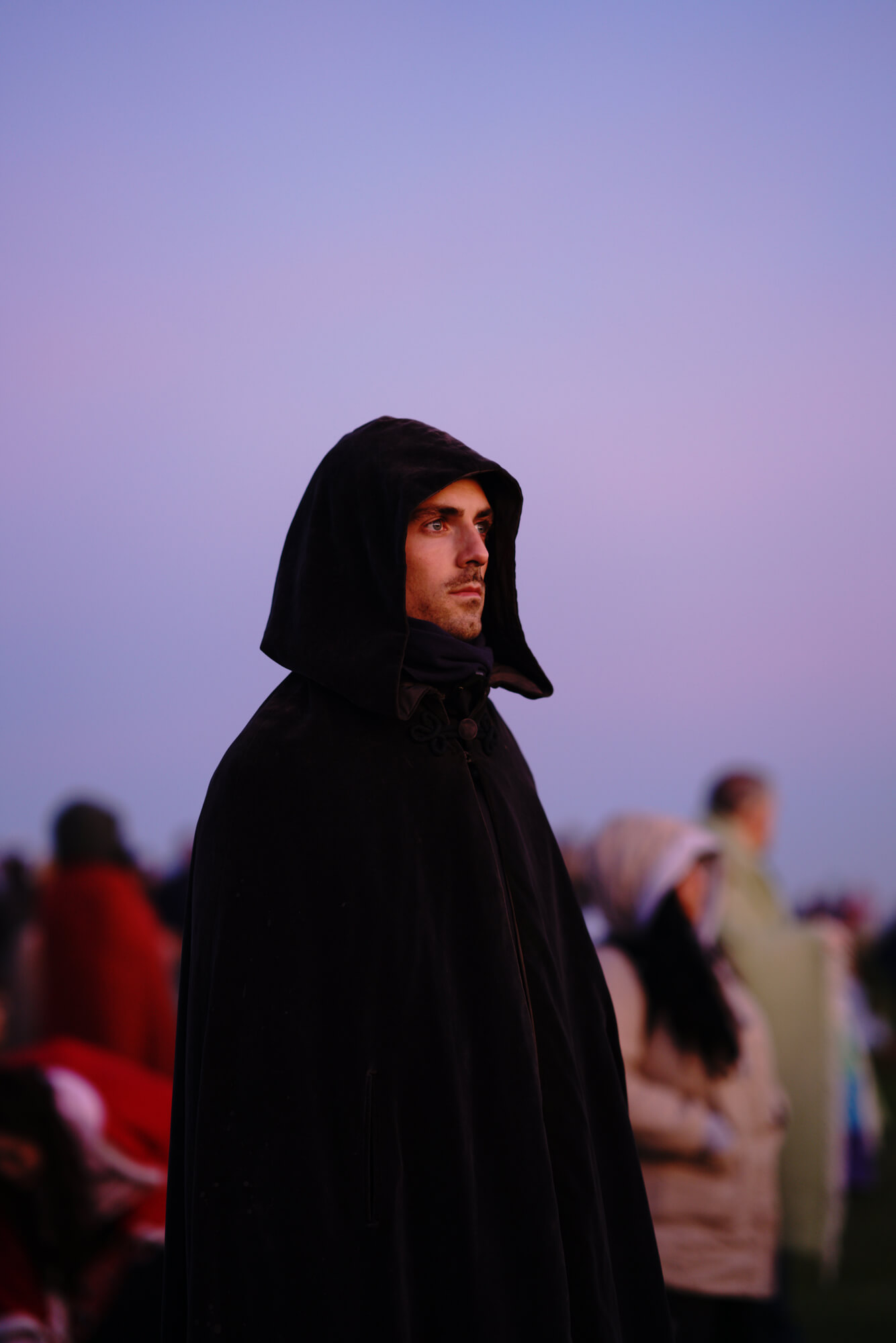 ana paganini stonehenge Summer and Winter Solstices the south west collective of photography man wears robes at sunset