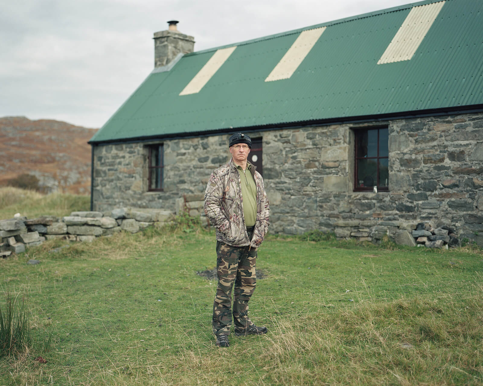 Nicholas White, Sandy at Peanmeanach Bothy, Ardnish Peninsula, Scotland the south west