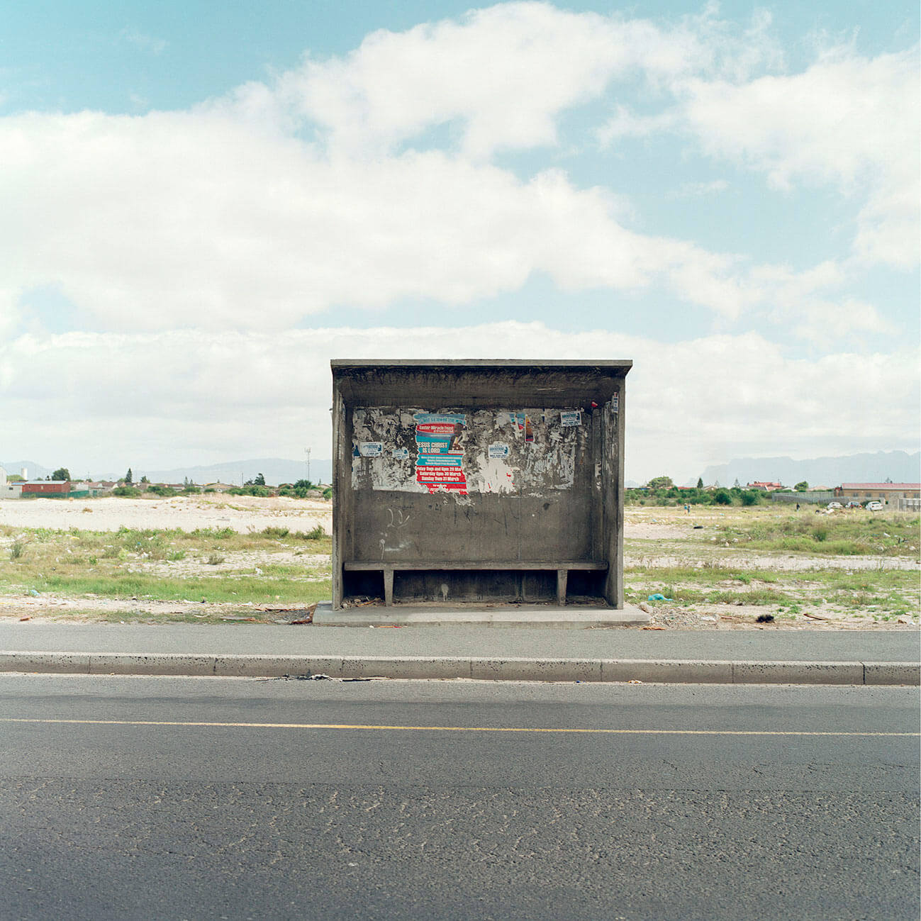 Claudio Rasano SOUTH AFRICA EVERYONE LIVE IN THE SAME PLACE LIKE BEFORE picture of a bus stop