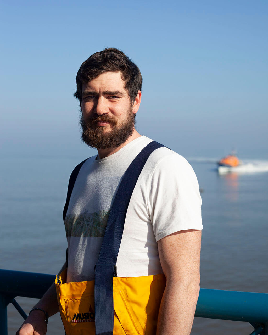 Kate Wolstenholme littoral the south west collective of photography portrait of man rnli