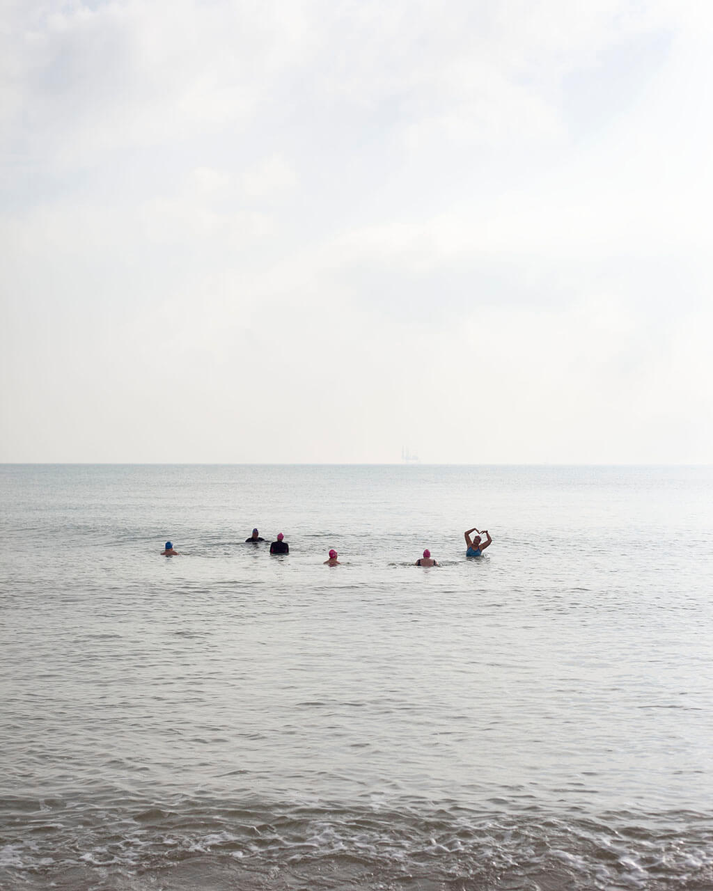 Kate Wolstenholme littoral the south west collective of photography swimmers in the sea
