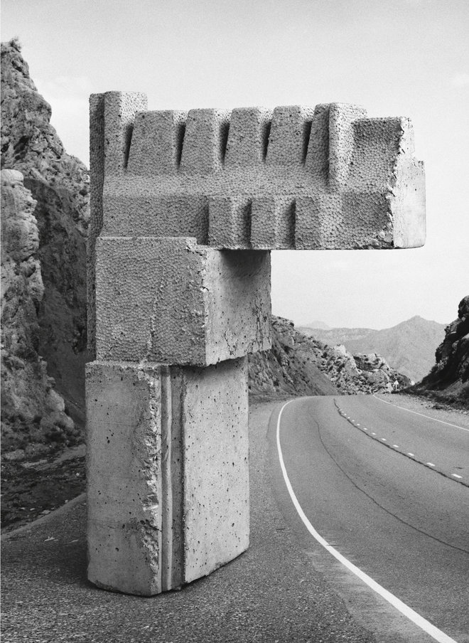 Taiyo Onorato & Nico Krebs black and white sculpture made of stone