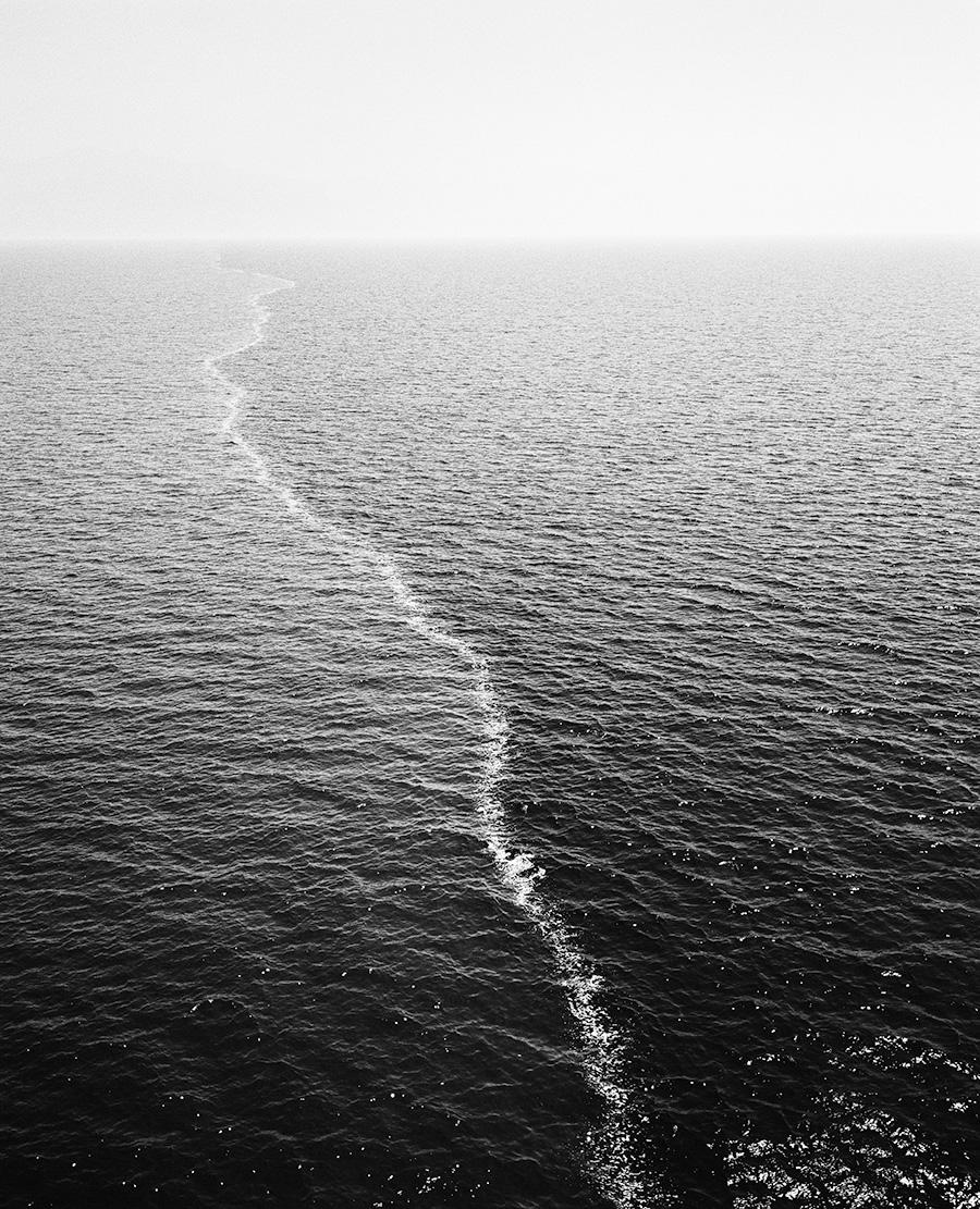 Taiyo Onorato & Nico Krebs black and white photo of the ocean