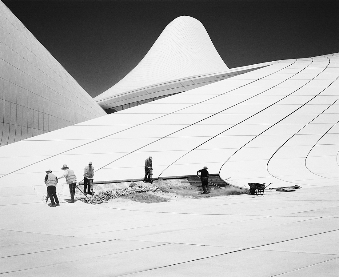 Taiyo Onorato & Nico Krebs men standing on lined roof in black and white