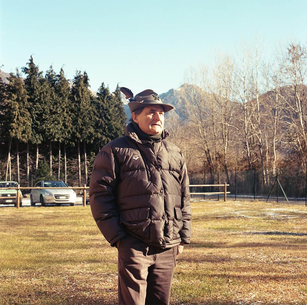 Giulia Simonotti SIAMO TUTTI ALPINI the south west collective of photography portrait of man stood still