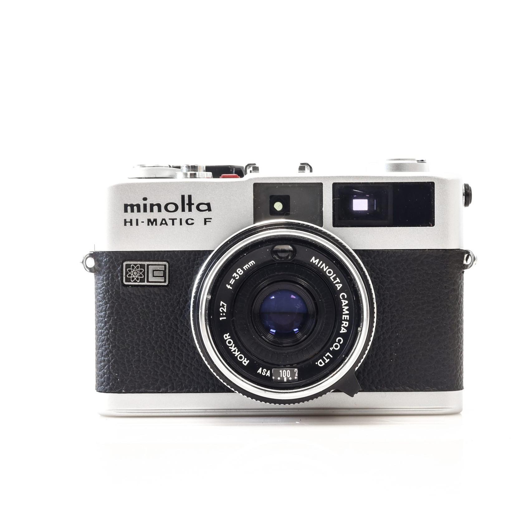 Gorgeous Minolta Hi - Matic F 35mm Rangefinder Camera