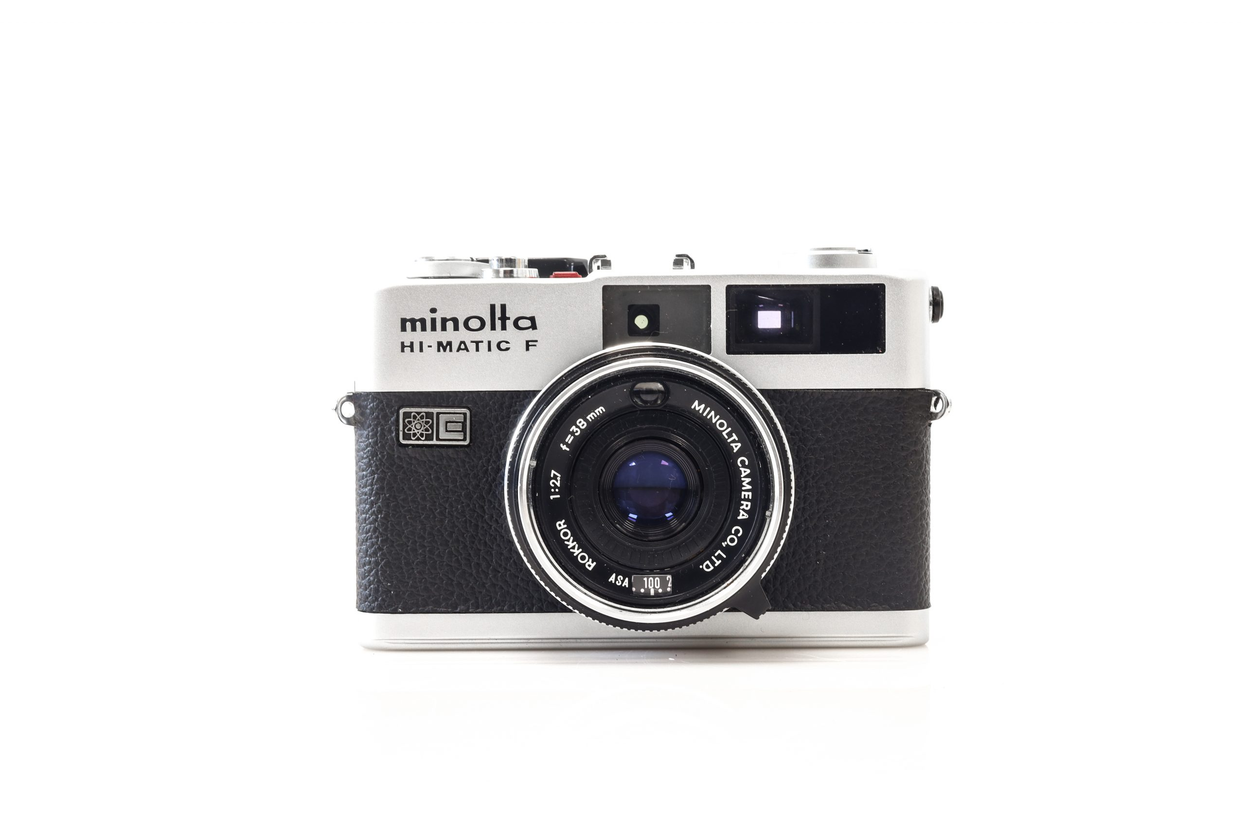 Gorgeous Minolta Hi - Matic F 35mm Rangefinder Camera