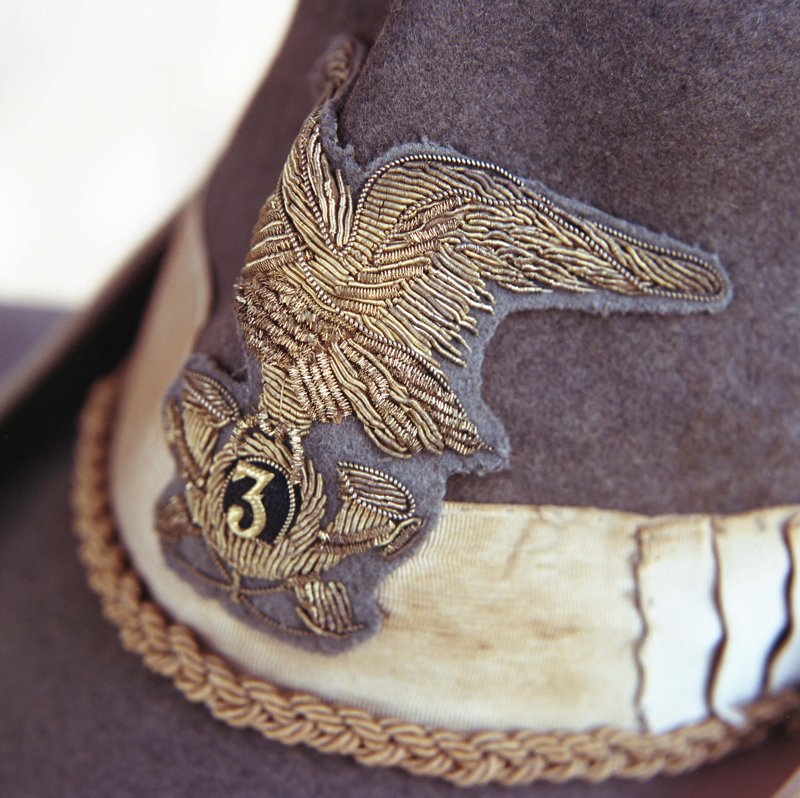 Giulia Simonotti SIAMO TUTTI ALPINI the south west collective of photography photo of badge on hat