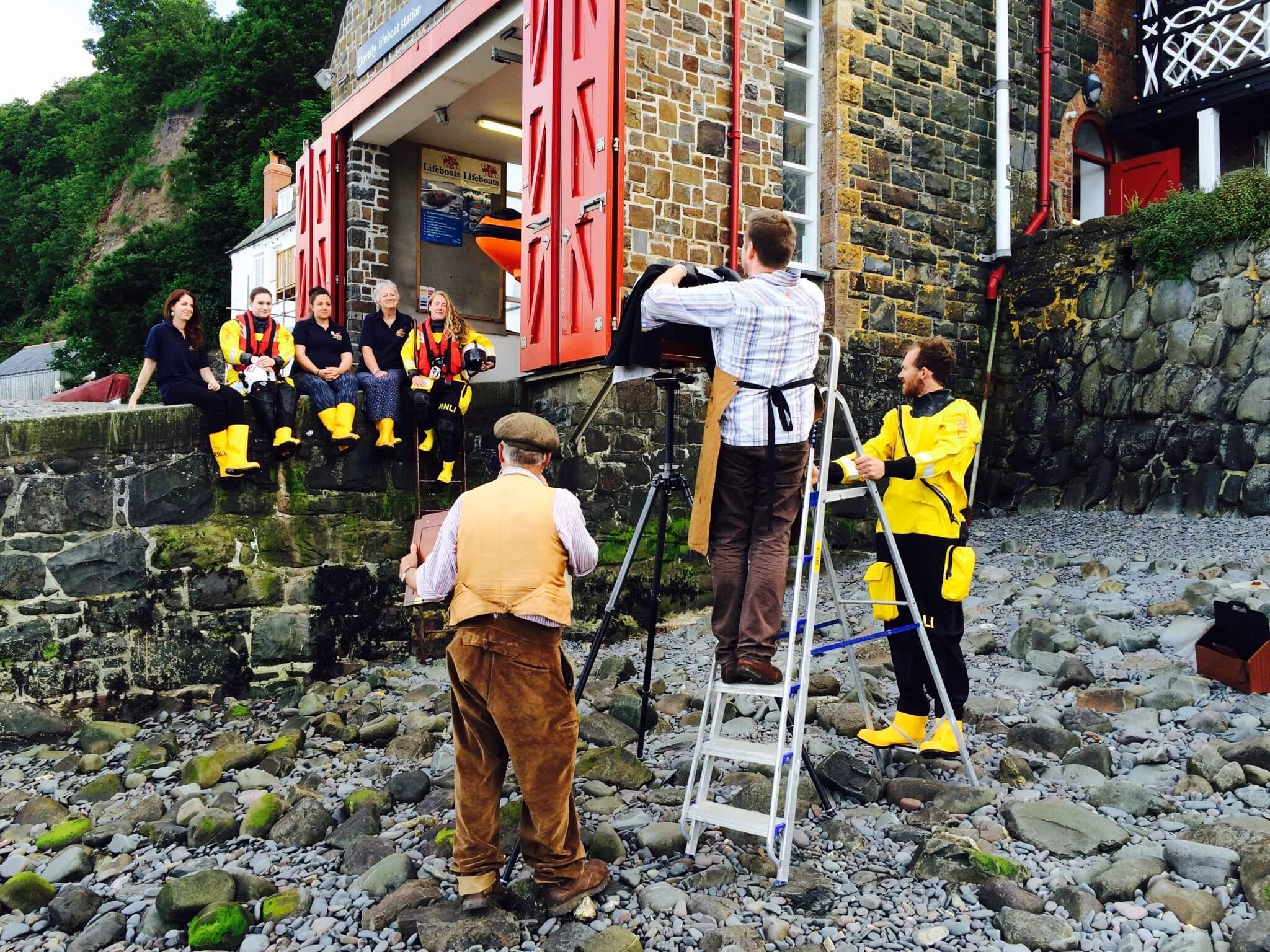 Life Boat Station Project Jack Lowe set up picture the south west collective of photography