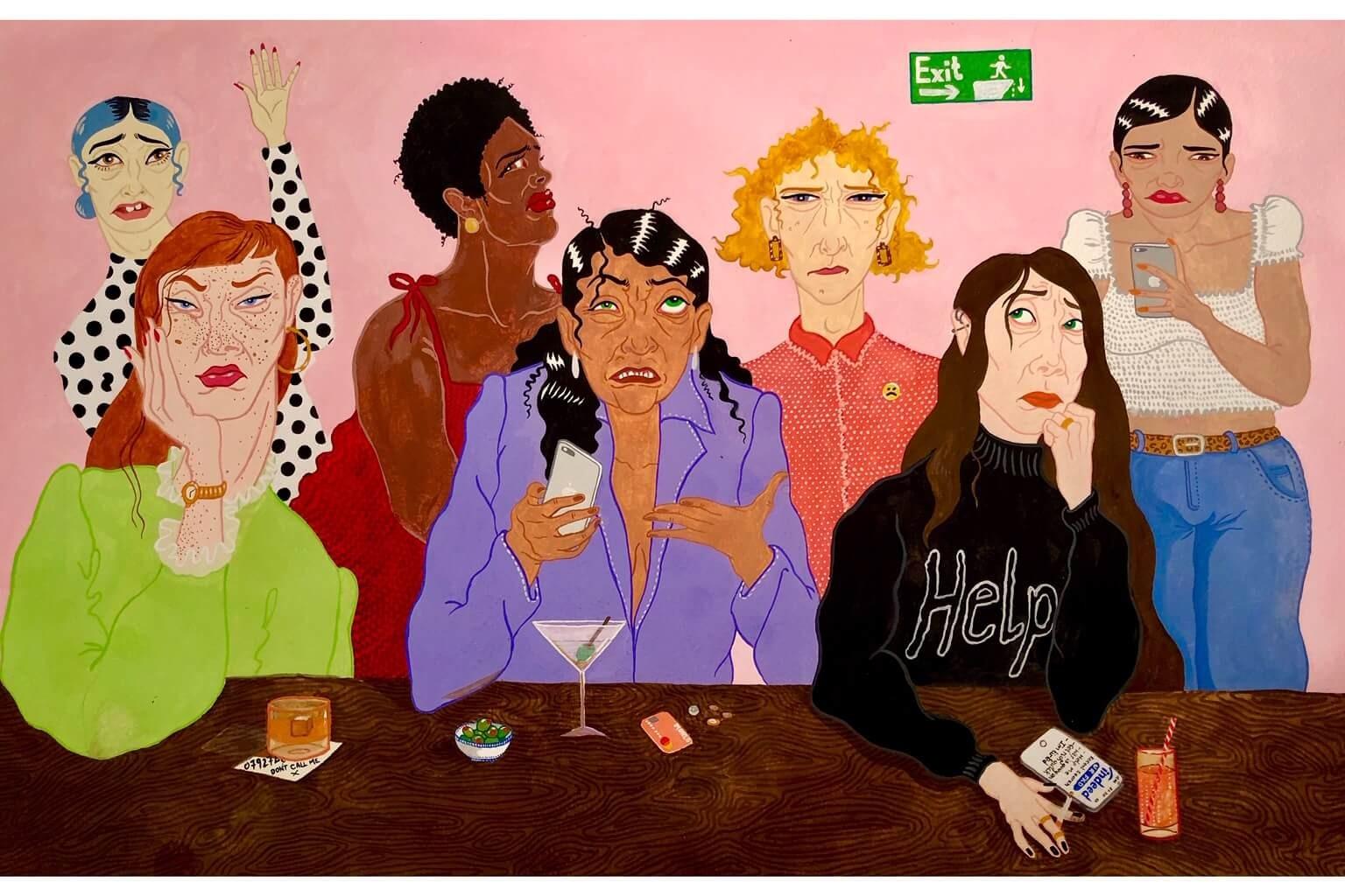 Isabelle Mulvany illustration women painting