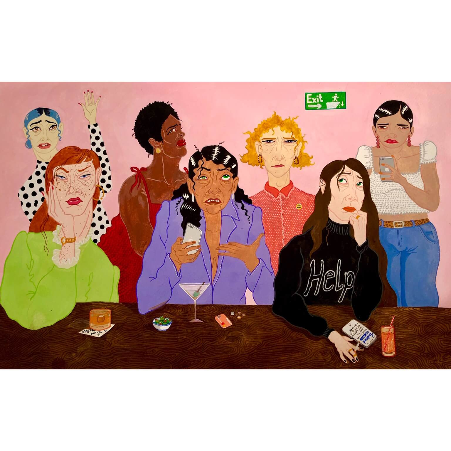 Isabelle Mulvany illustration women painting
