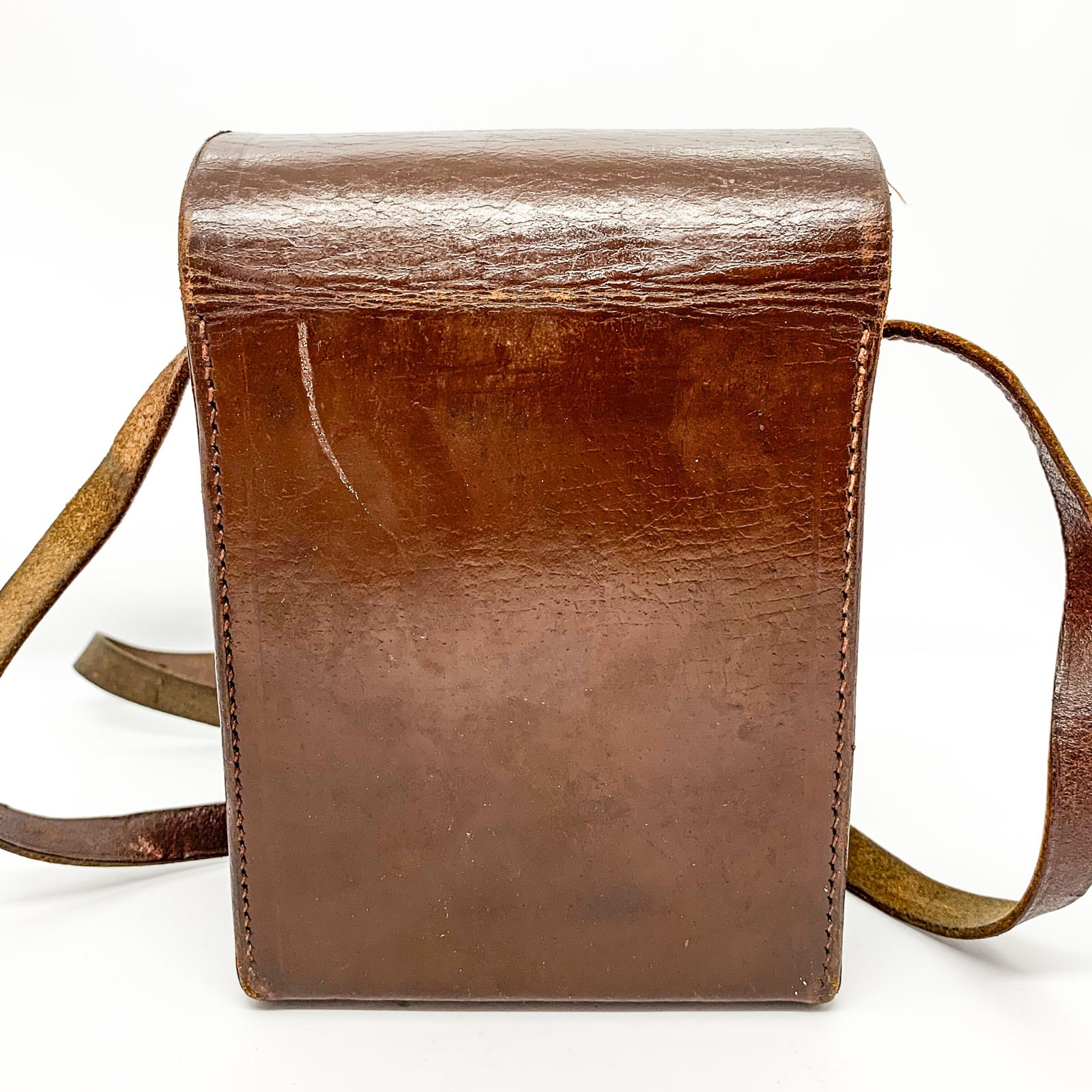 Bell & Howell Vintage Leather case on white background