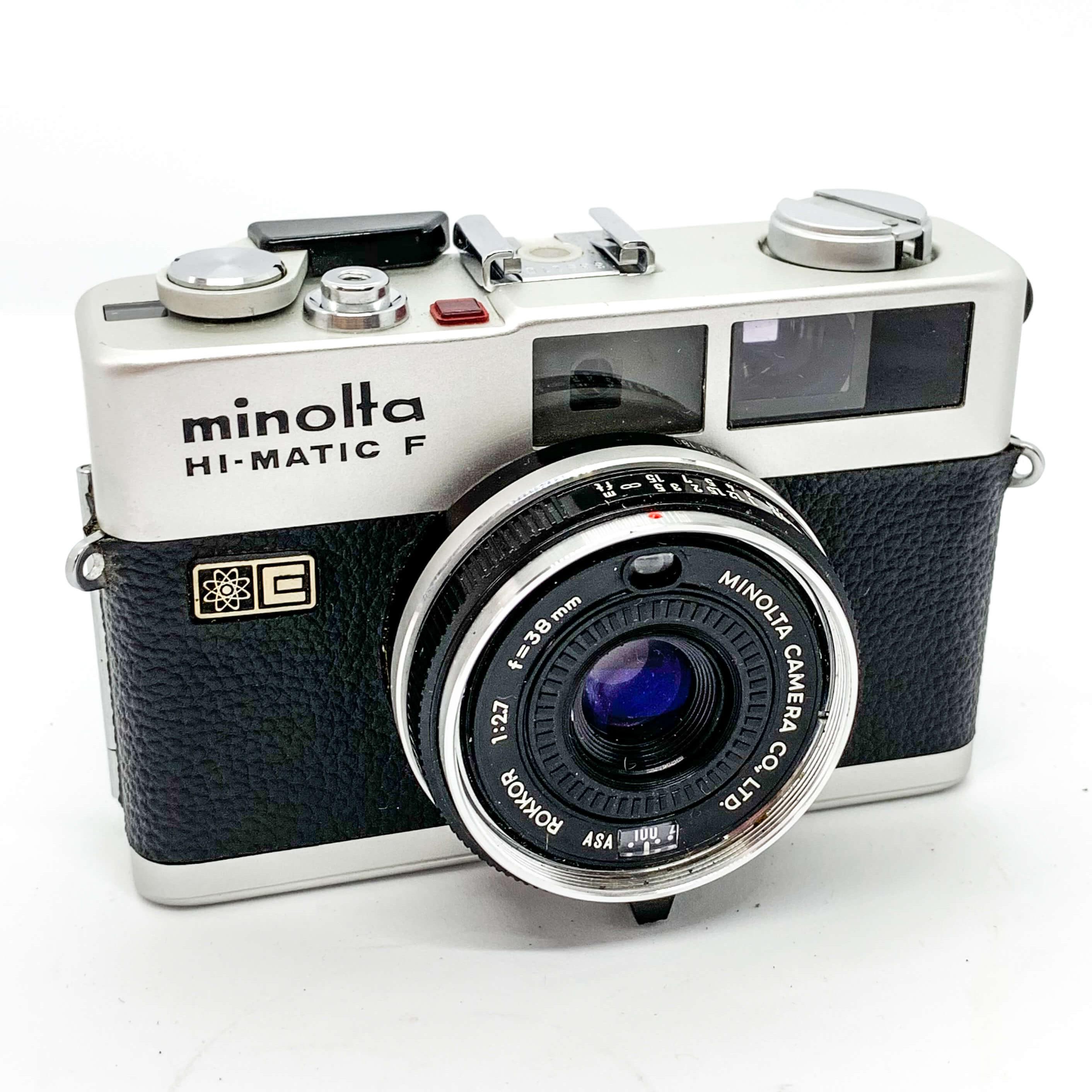 Minolta High Matic 35mm Range finder on white background
