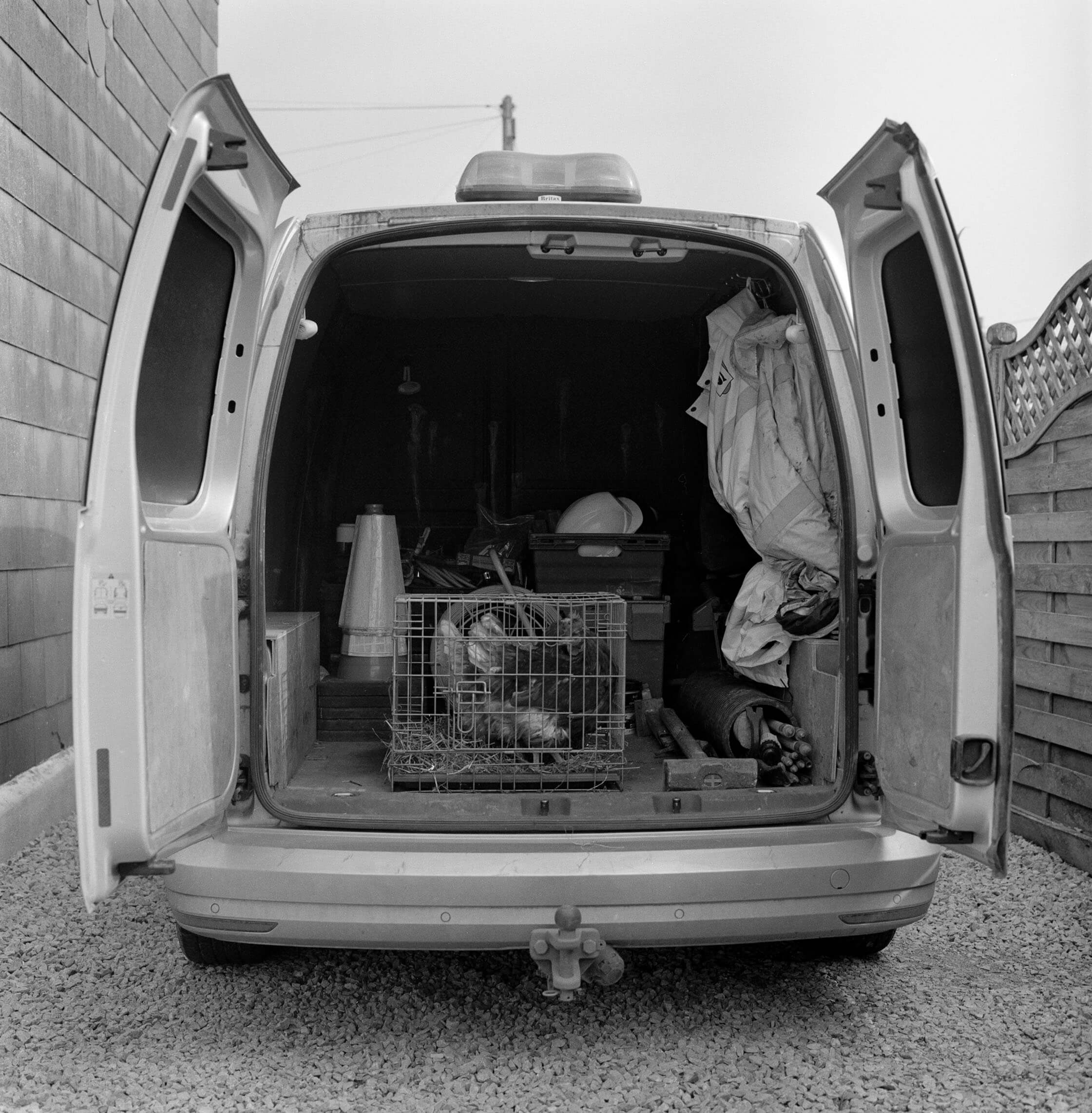 Jess Keatley the south west collective of photography ltd chicken in van