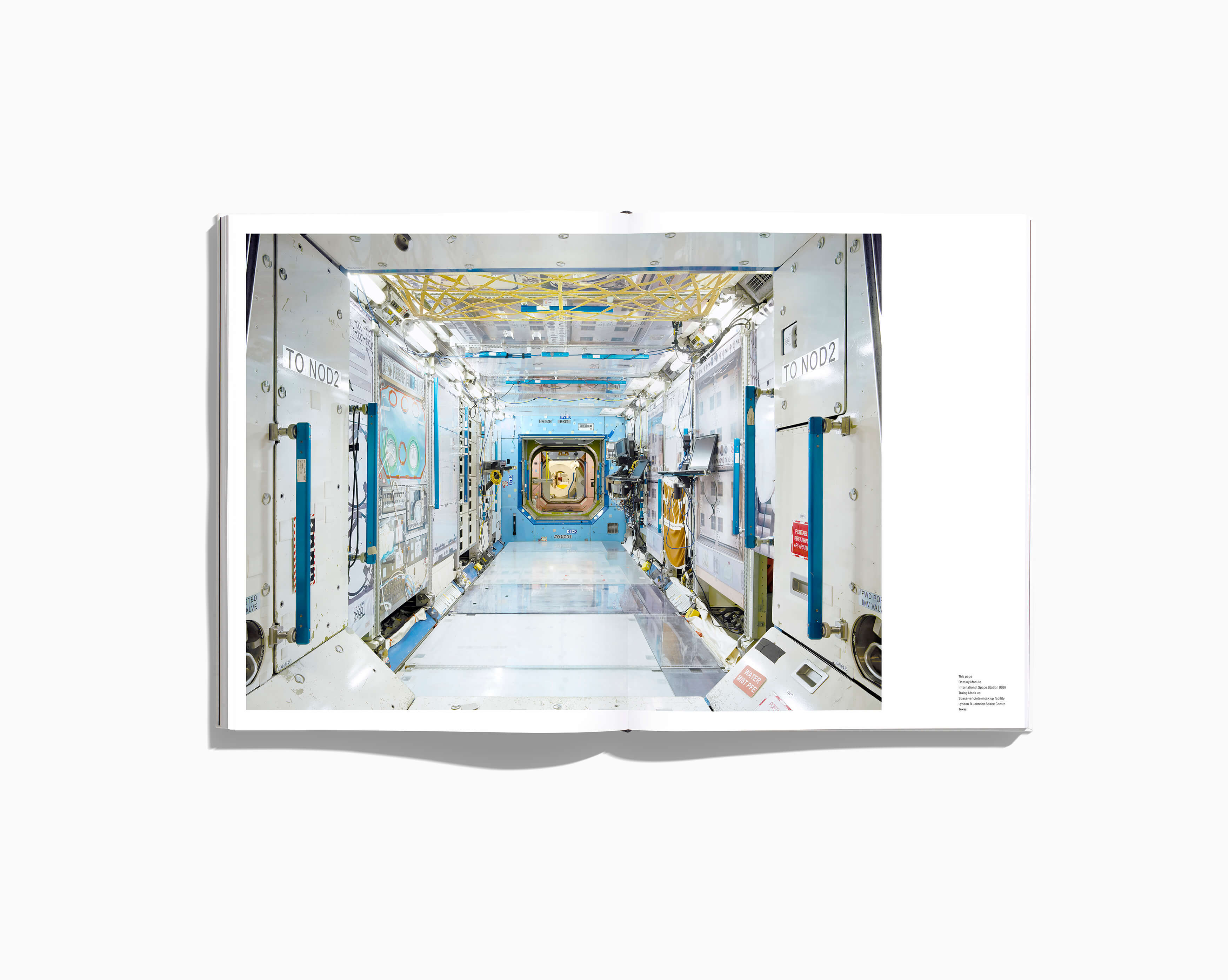 NASA PAST AND PRESET DREAMS OF THE FUTURE - DESTINY MODULE INTERNATIONAL SPACE STATION (ISS) TRAINER BOOK SPREAD