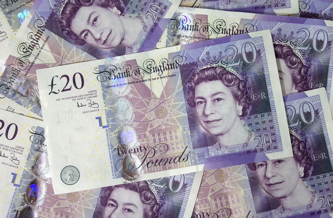 British twenty pound note image