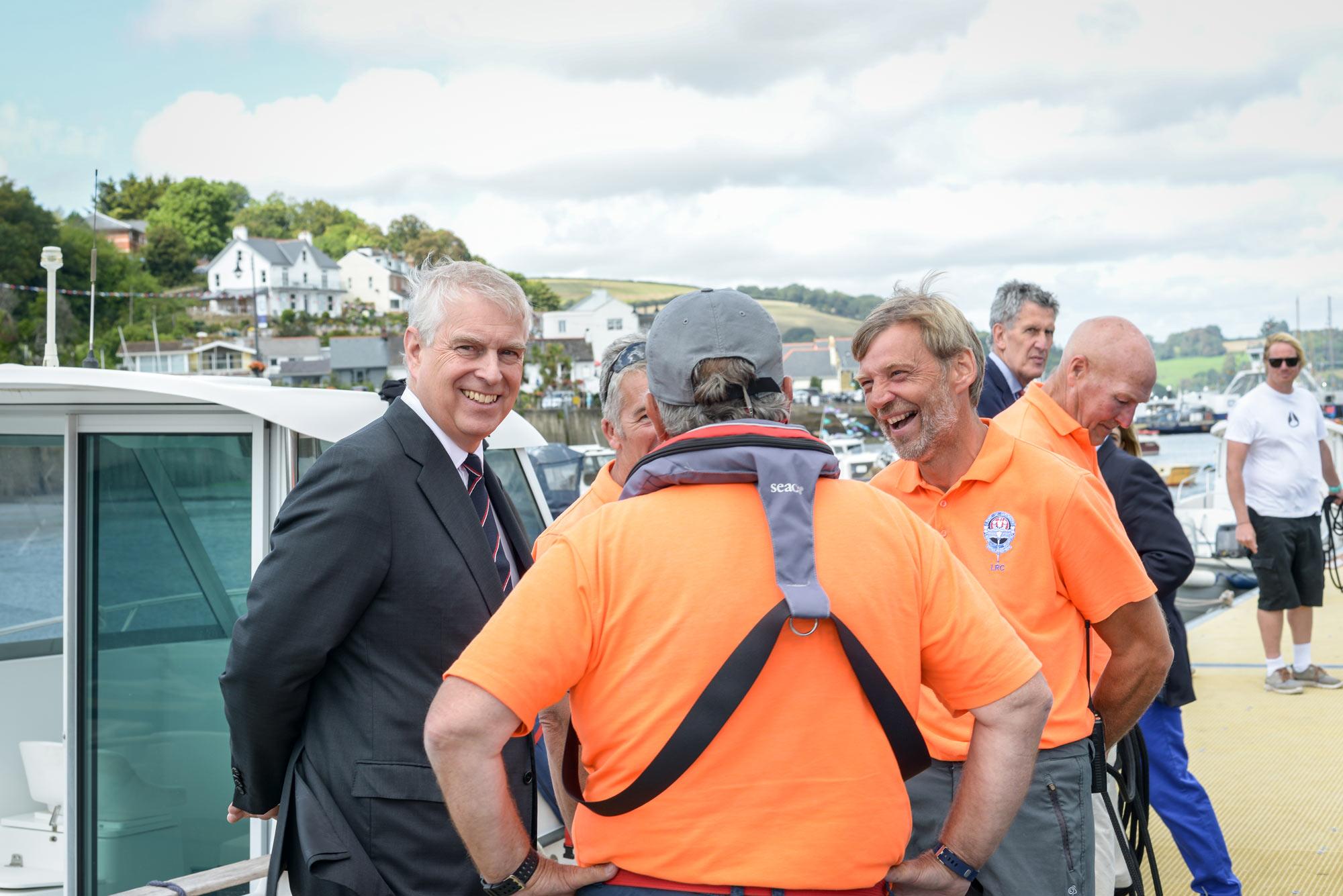Prince Andrew port of dart mouth royal regatta 2019