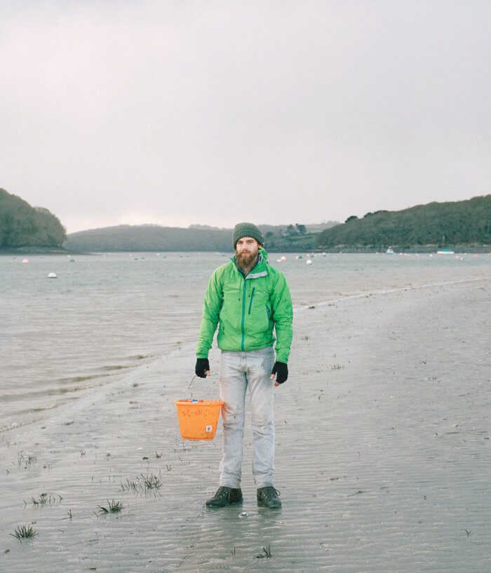 Jaime Molina - Gatherers man gathering on beach