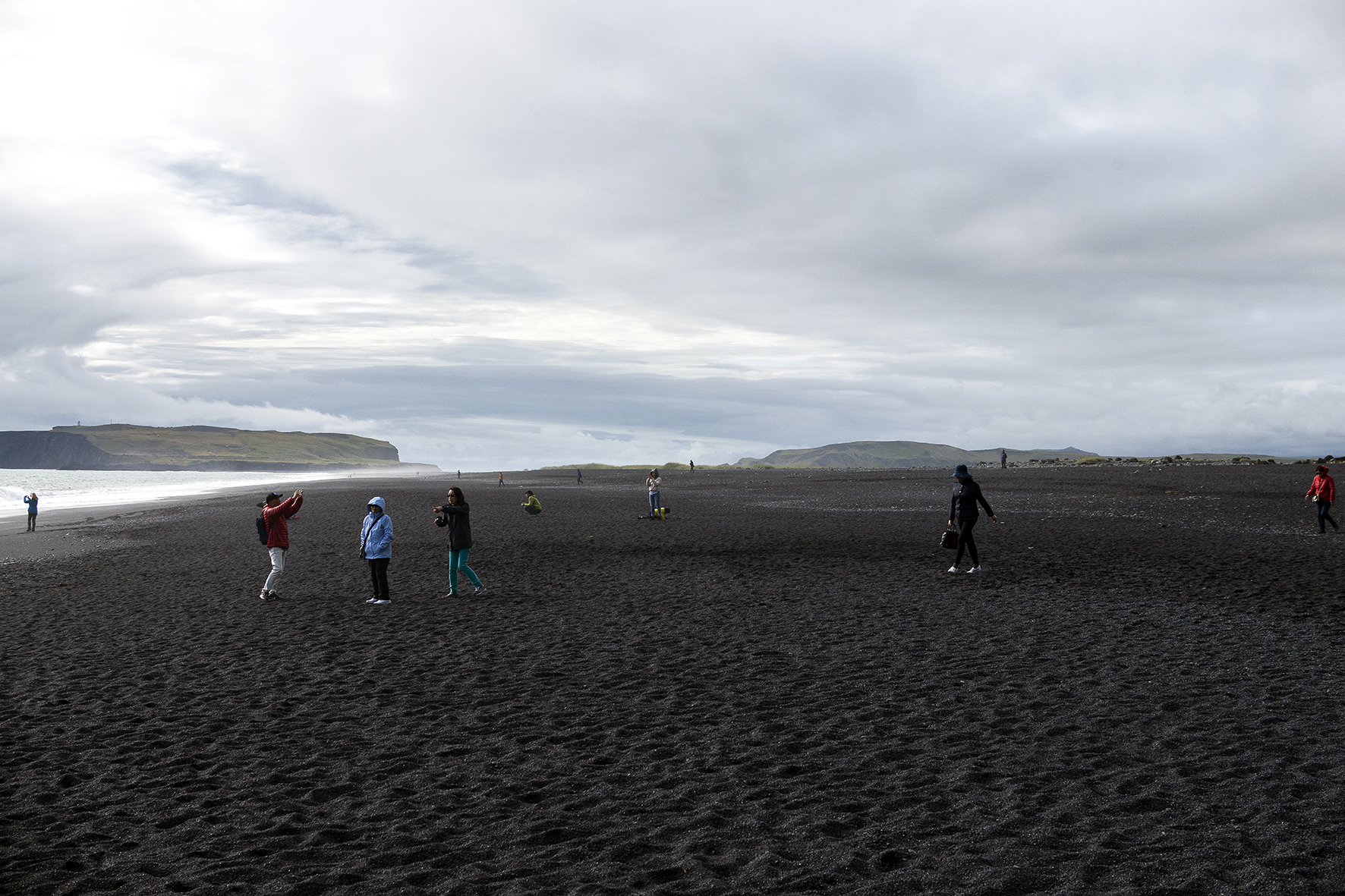 Hereafter, Humanature, 2018 people on a black beach