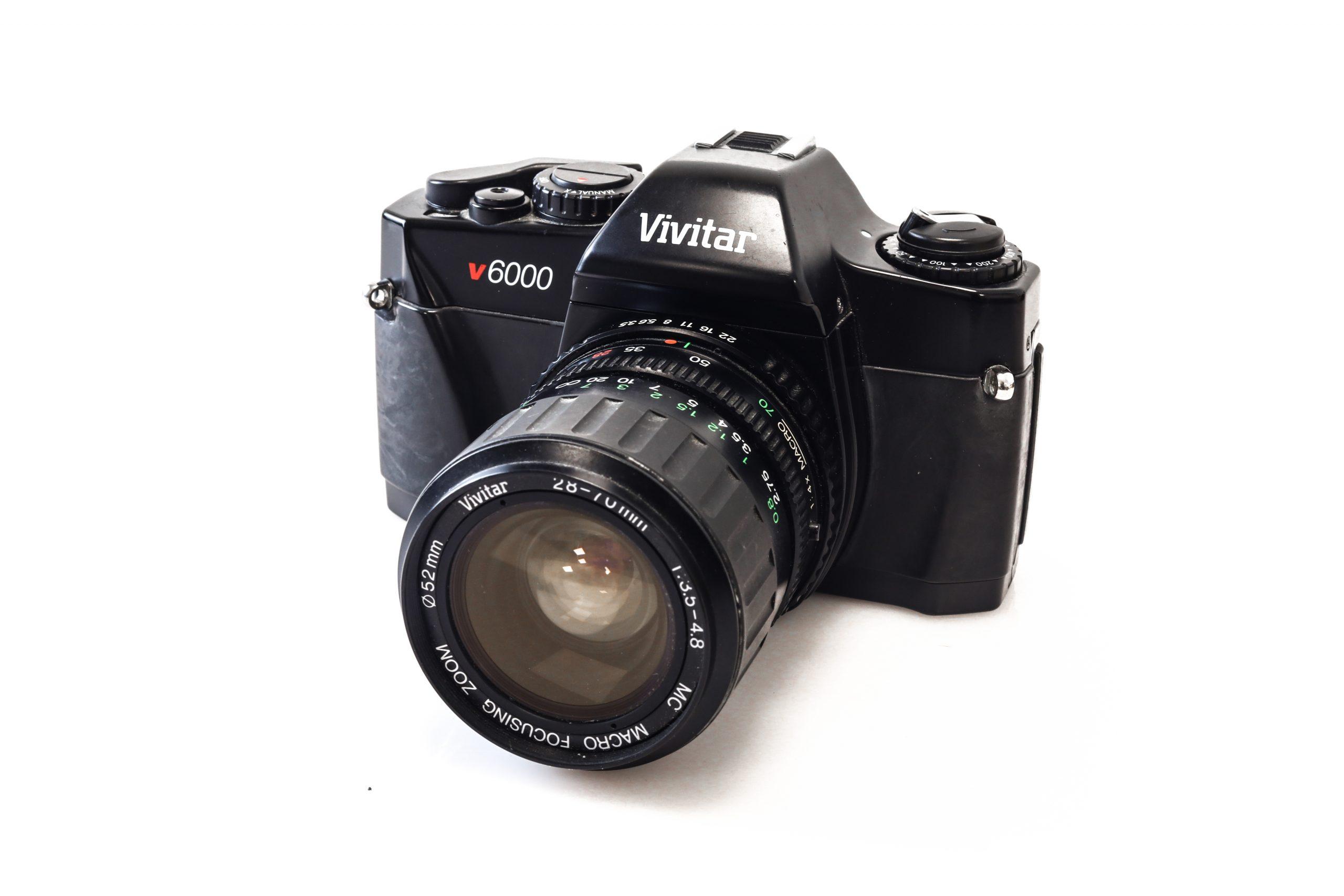 Vivitar V6000 35mm Film Camera + Vivitar 28-70mm F3.5-4.8 Lens