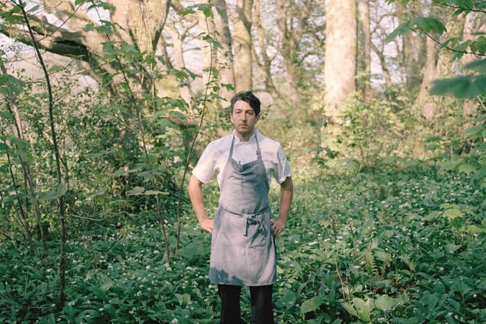 Jaime Molina - Gatherers chef searching for herbs in woodland
