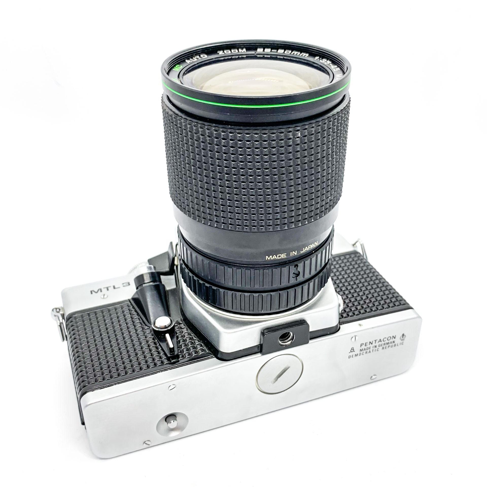 Praktica MTL 3 35mm Film Camera + Hanimex Auto Zoom 28-80mm Lens