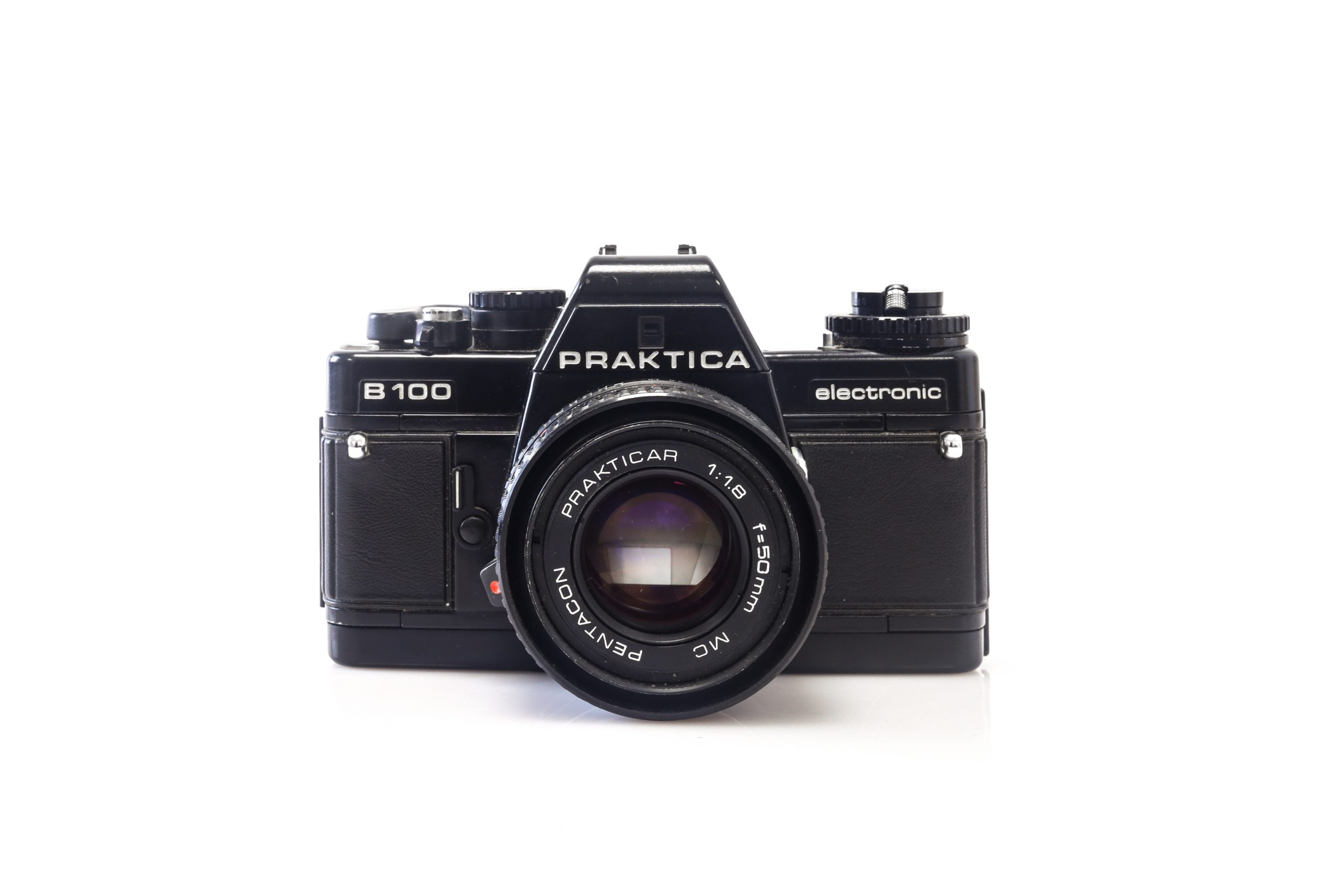 Beautiful Praktica B100 35mm Film Camera with Pentacon 50mm F1.8 Lens