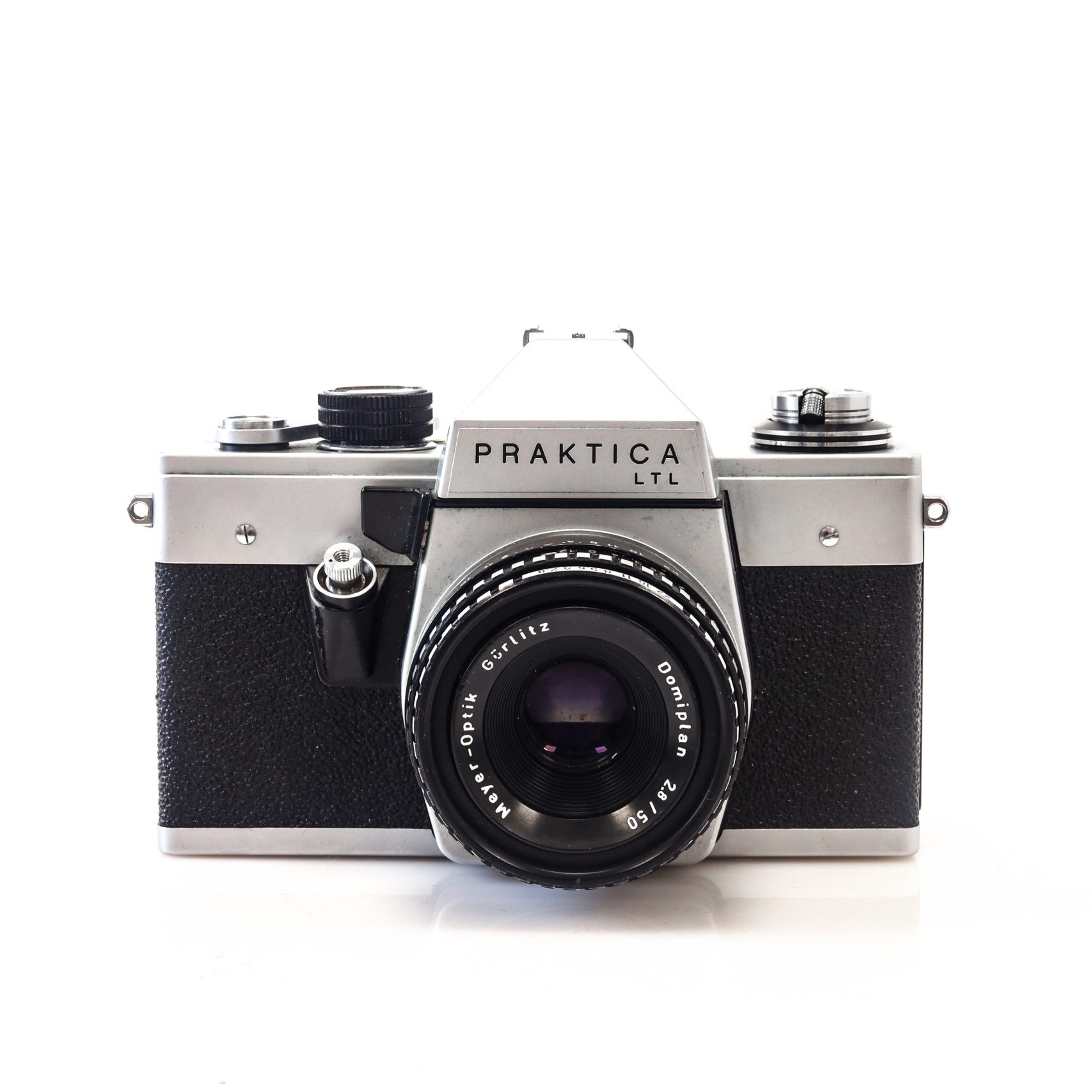 Beautiful Praktica LTL 35mm Film Camera with Meyer Optiks 50mm F2.8 Lens
