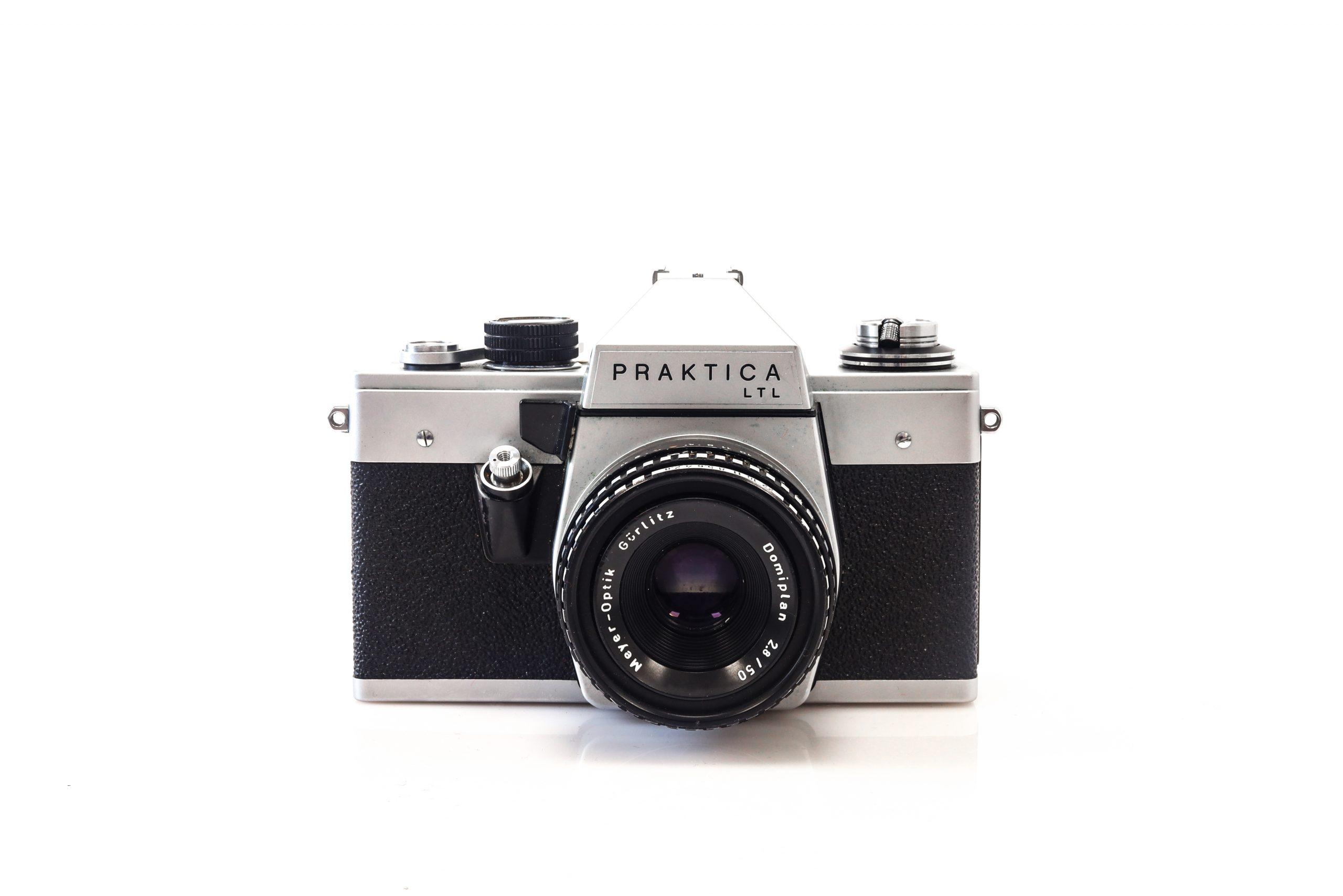 Beautiful Praktica LTL 35mm Film Camera with Meyer Optiks 50mm F2.8 Lens