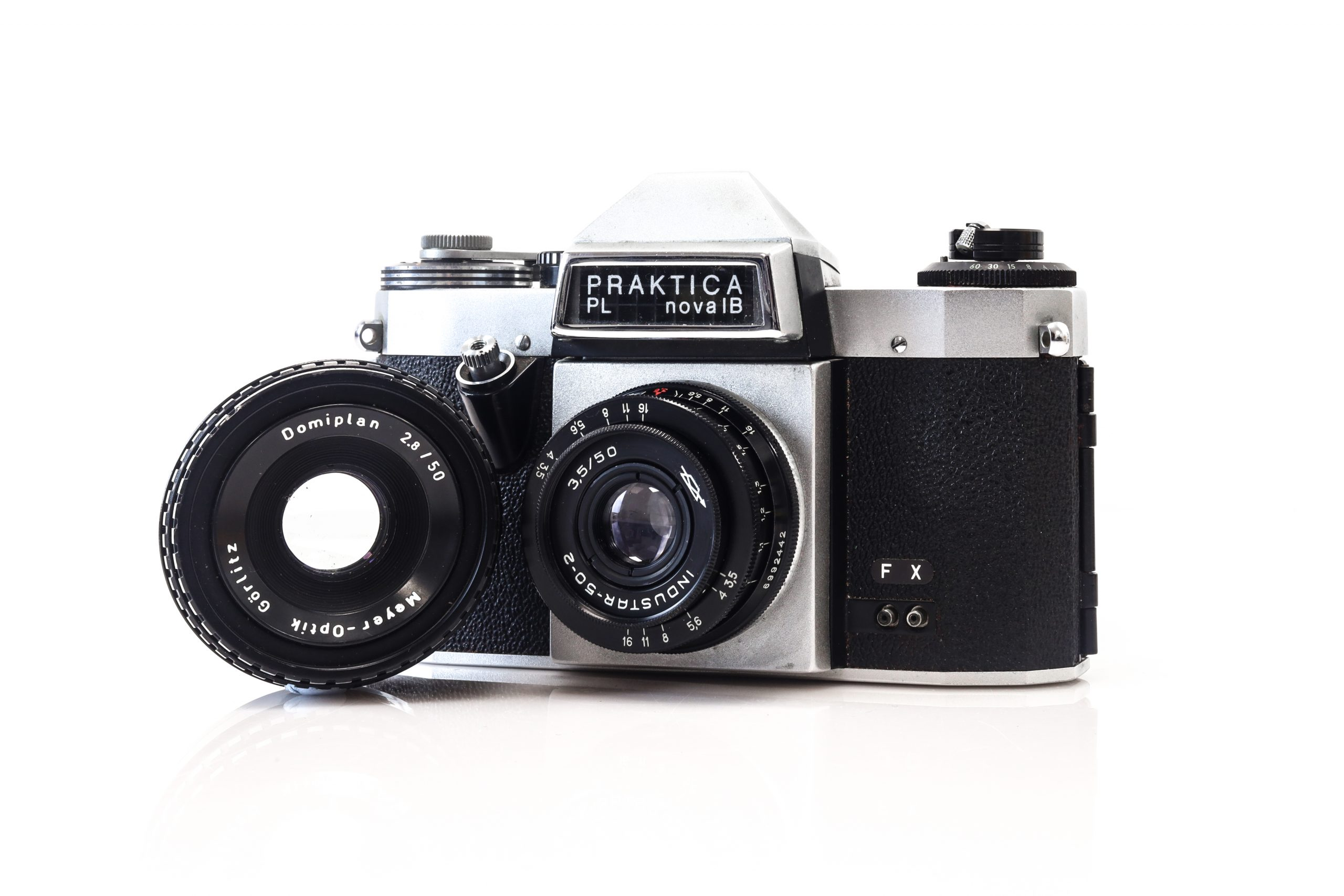 Brilliant Praktica PL Nova IB 35mm Film Camera with 2 Lenses