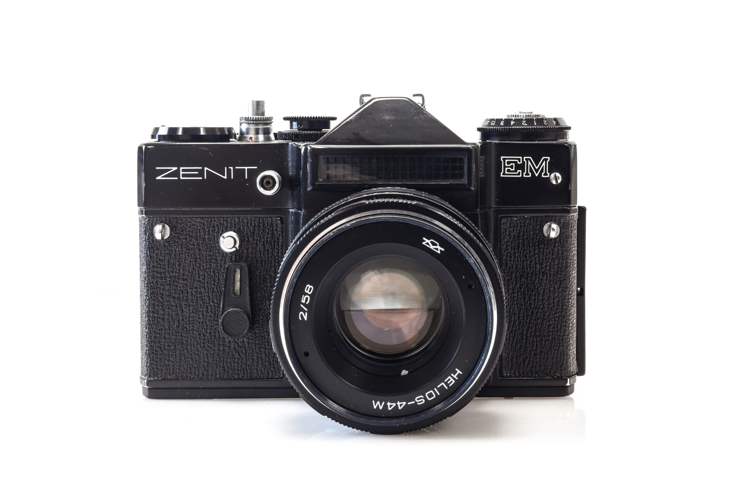Beautiful Zenit EM 35mm Soviet Film Camera with Helios 44m Lens