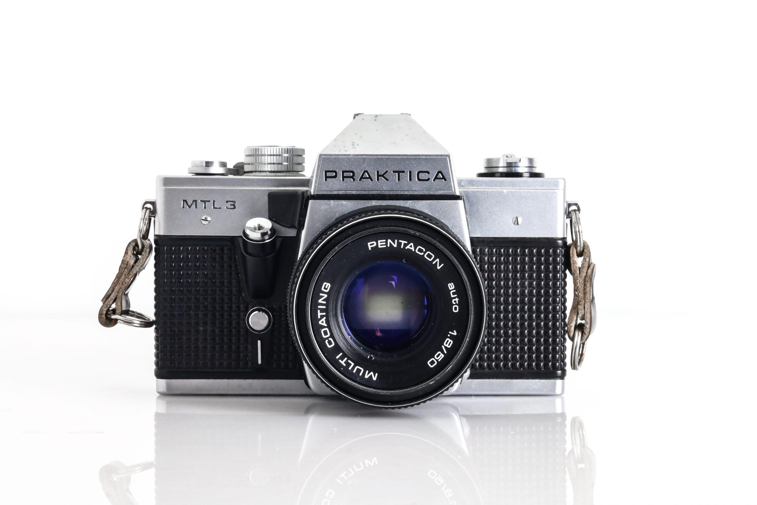 Praktica MTL 3 35mm Film Camera with (Faulty) Pentacon Auto 1.8/50mm Lens