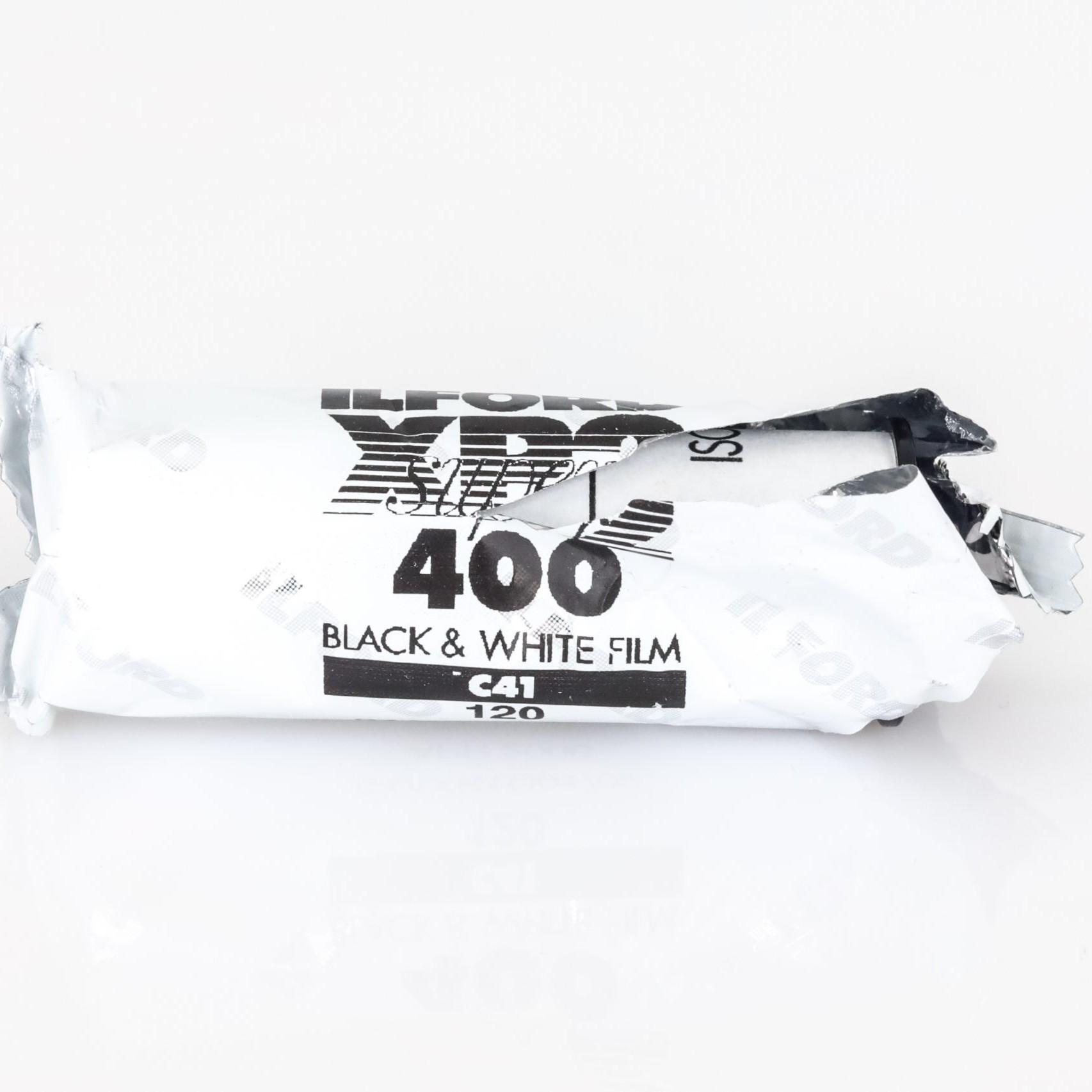 Expired Ilford XP2 Super Black and White 120 Medium Format Film